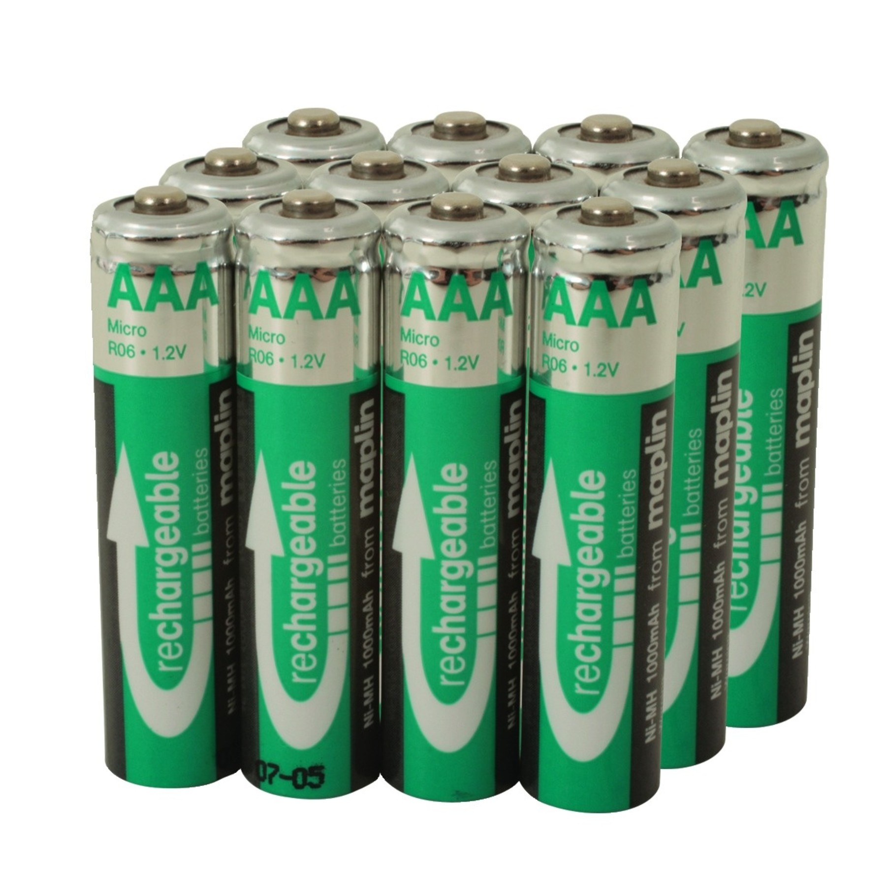 12 rechargeable aaa battery nimh 1000mah value pack 1000 times nickel metal new ebay. Black Bedroom Furniture Sets. Home Design Ideas