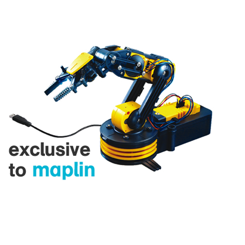 Maplin Robotic Arm Kit With USB PC Interface Construct Precision Educational New