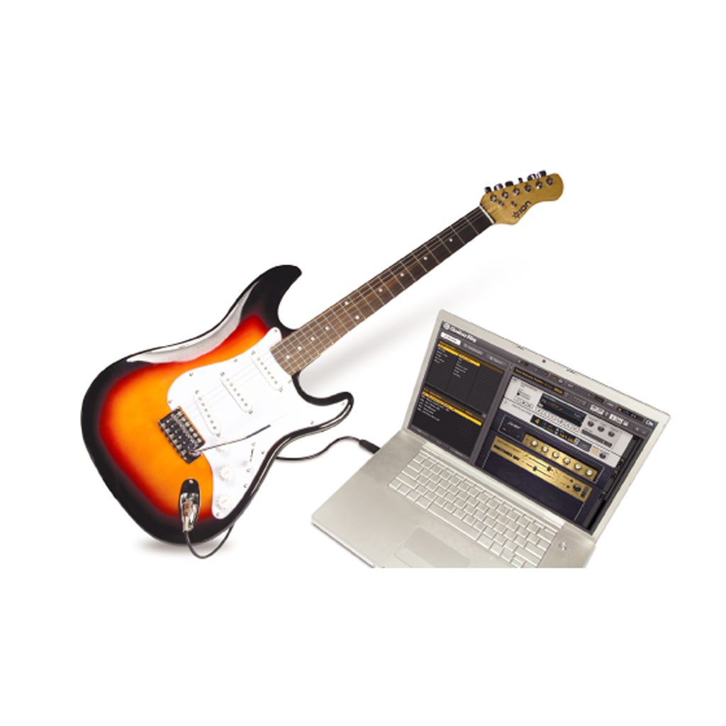 ion discover electric usb guitar package software new ebay. Black Bedroom Furniture Sets. Home Design Ideas