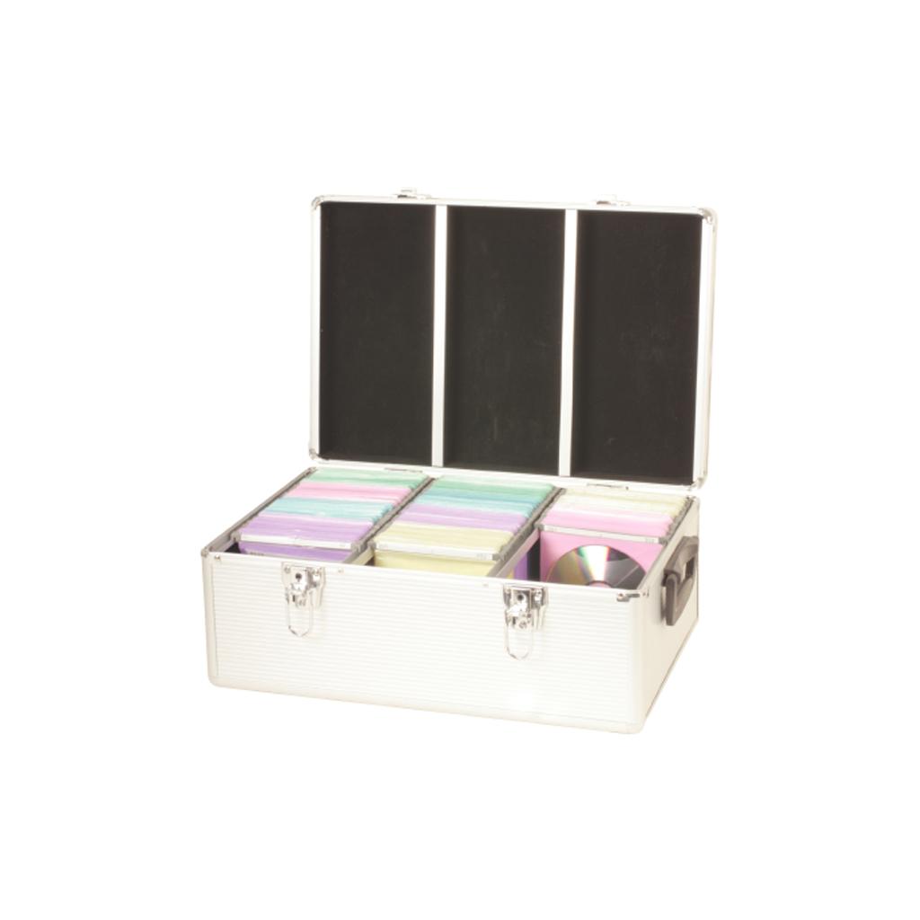 500 cd dvd case holder disc storage box lock suitcase ebay - Dvd case holder shelf ...