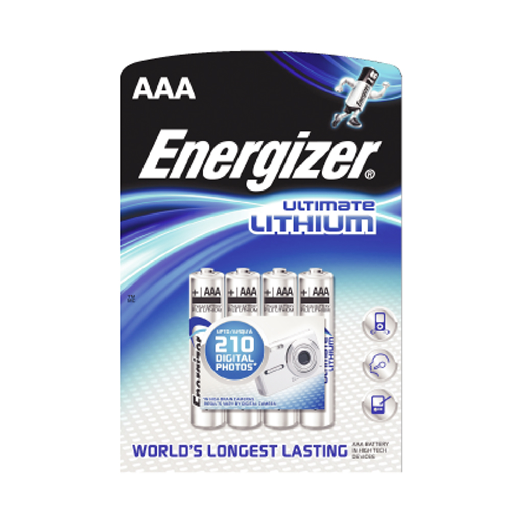 energizer ultimate lithium aa batteries 4 pack ebay. Black Bedroom Furniture Sets. Home Design Ideas