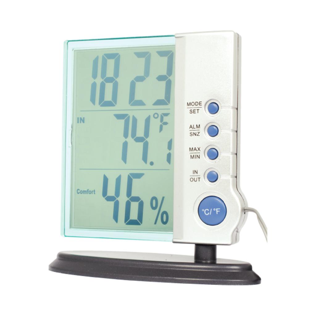 Digital Weather Station : Digital desktop weather station indoor outdoor clock ebay