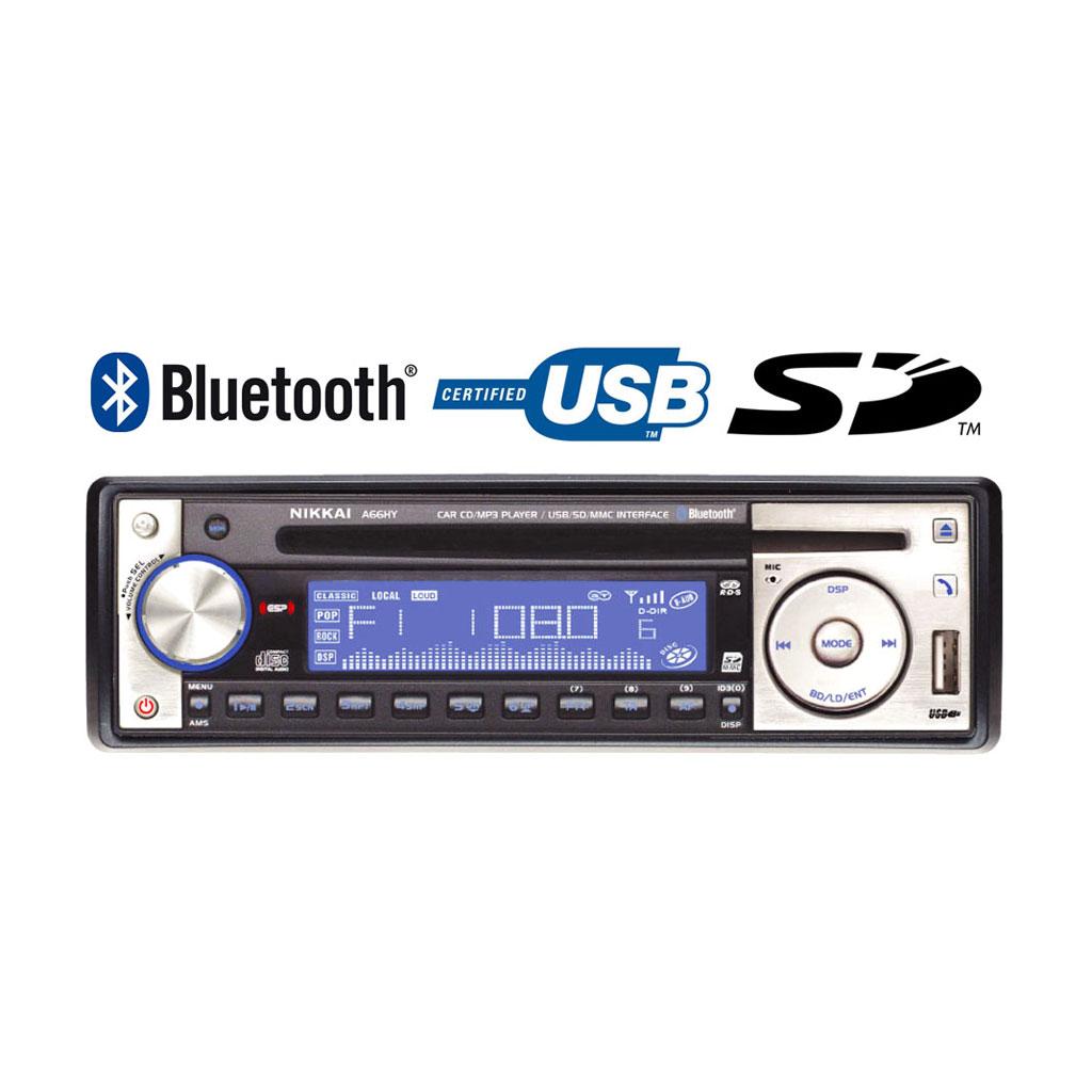 nikkai bluetooth car stereo cd mp3 player radio sd usb. Black Bedroom Furniture Sets. Home Design Ideas