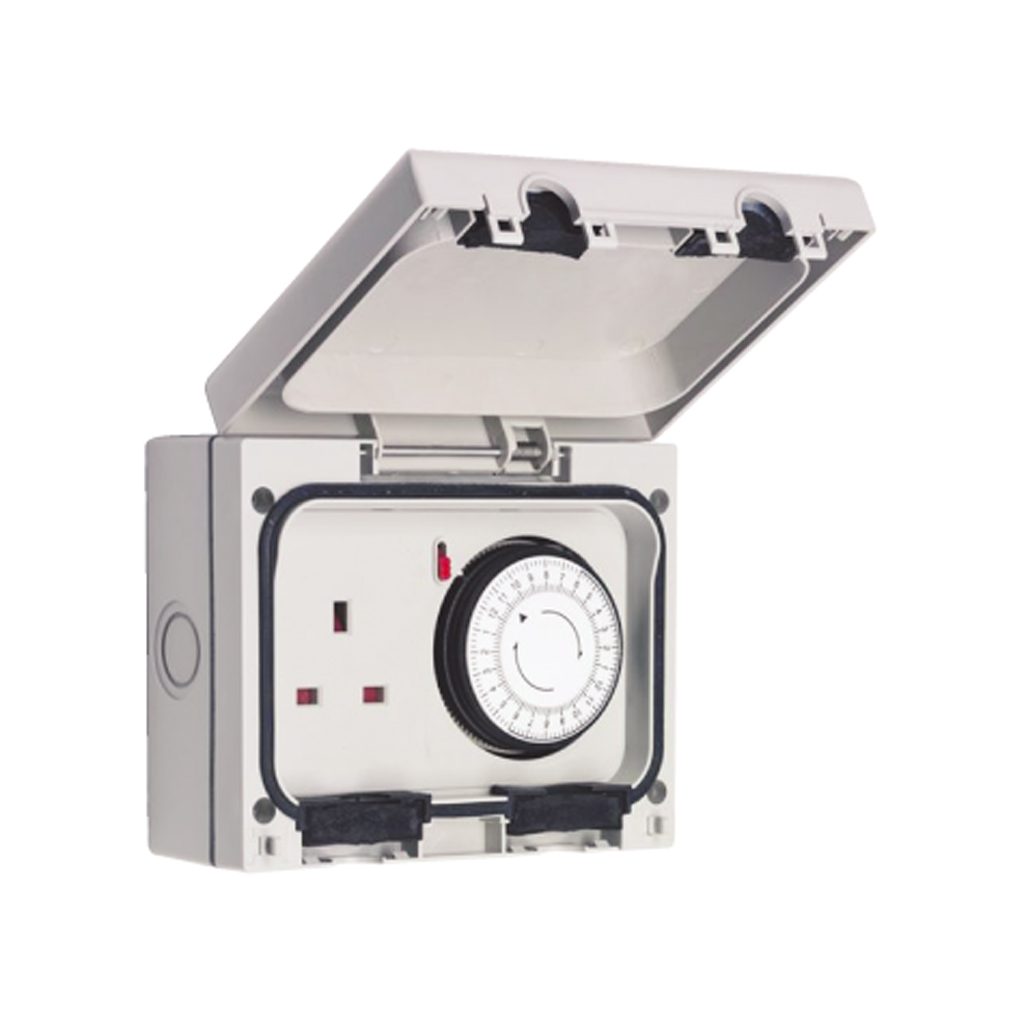 Ip66 Rated Outdoor Plug Socket With Mechanical Timer