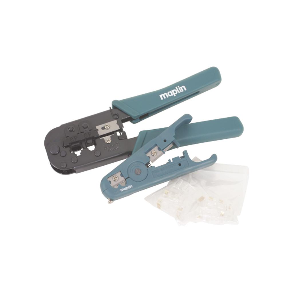 rj45 rj11 ethernet crimping tool pliers cable stripper ebay. Black Bedroom Furniture Sets. Home Design Ideas