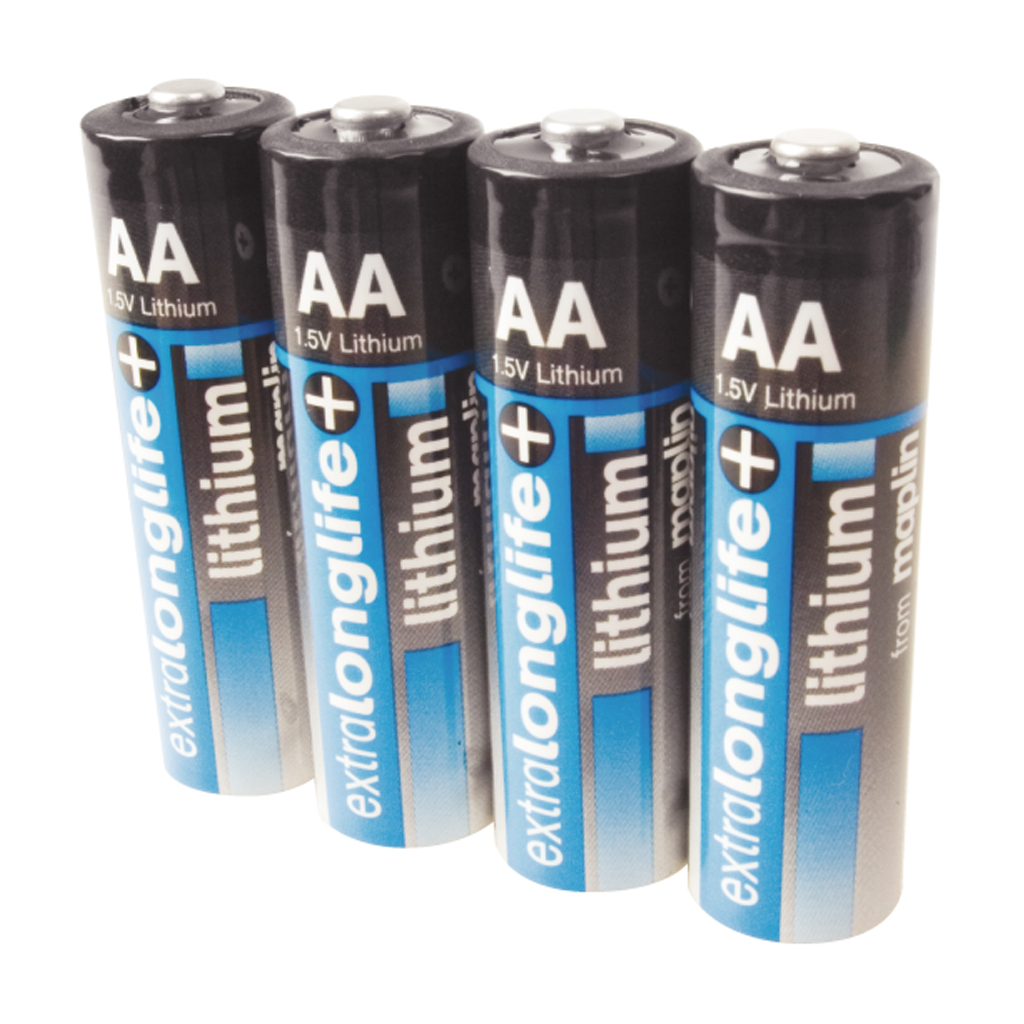 maplin extra long life 1 5v lithium aa battery 4 pack ebay. Black Bedroom Furniture Sets. Home Design Ideas