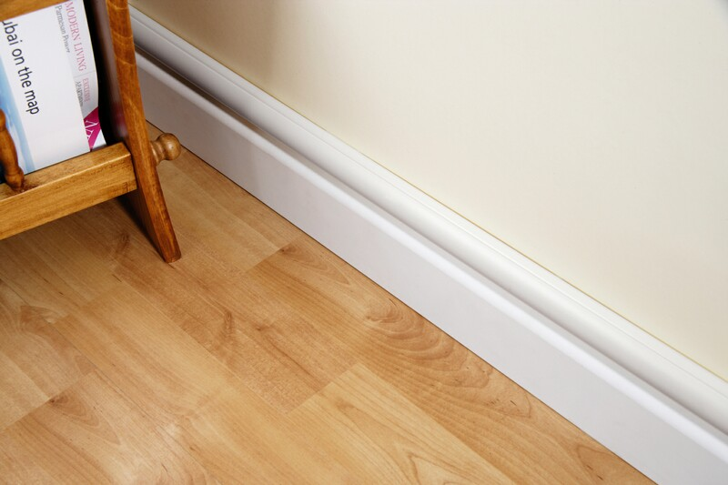 Under Cover White Skirting Board Cable Tidy Management