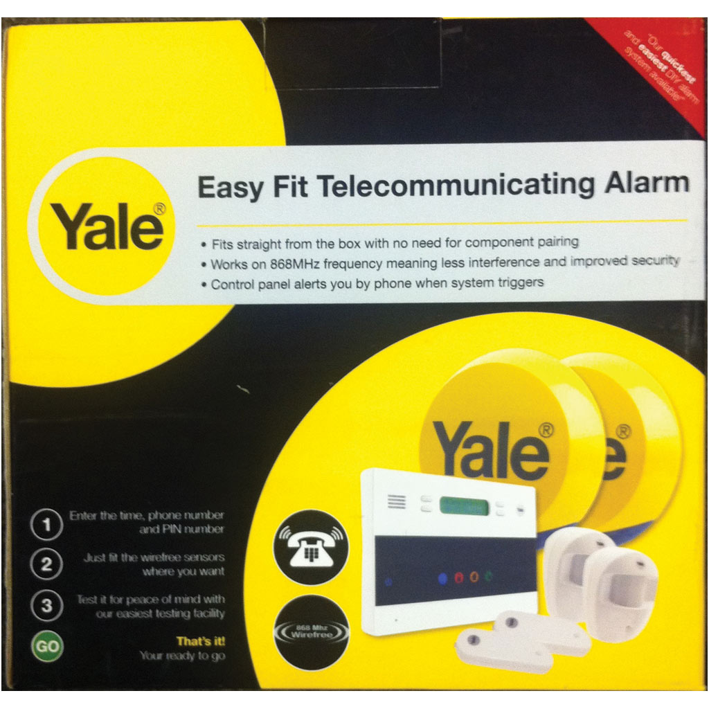 yale easy fit telecommunicating intruder alarm kit wire. Black Bedroom Furniture Sets. Home Design Ideas