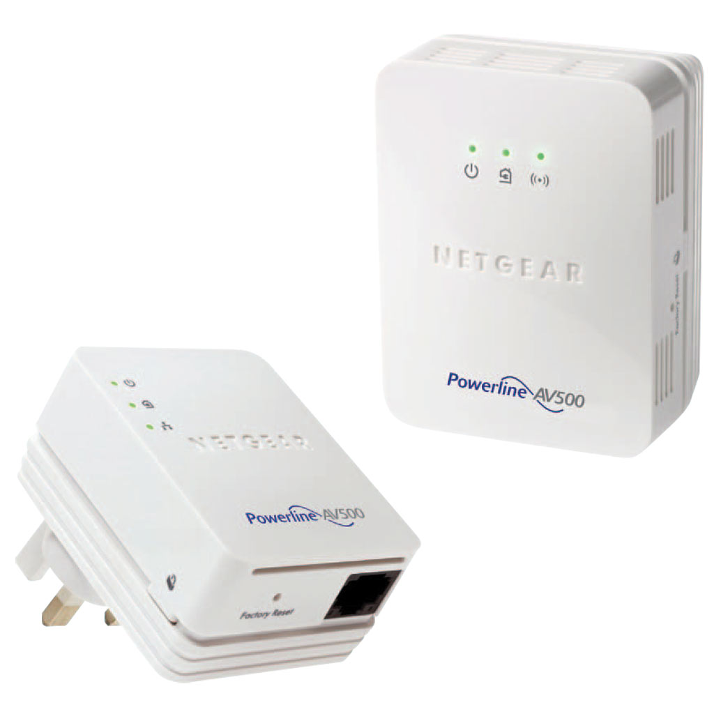 netgear 500mbps powerline with wireless n300 range. Black Bedroom Furniture Sets. Home Design Ideas