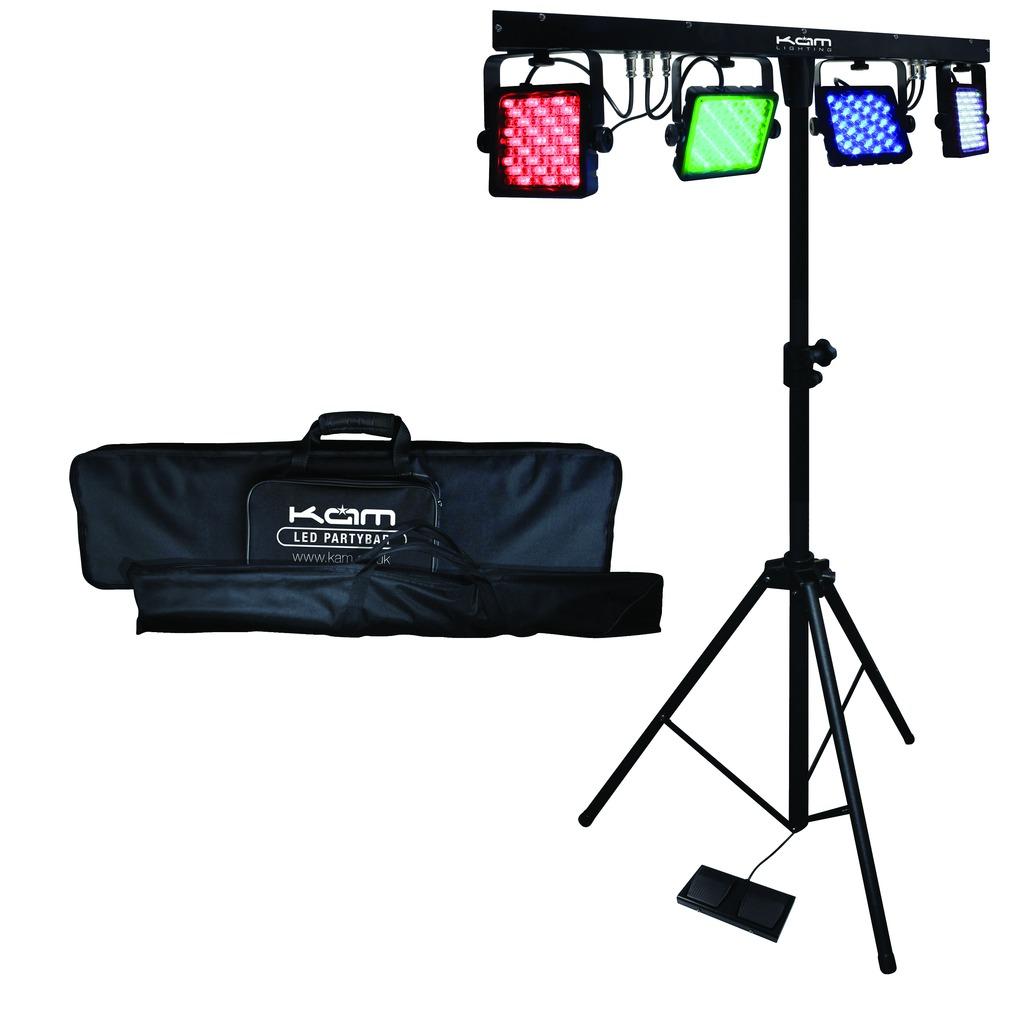 kam partybar mkii portable 4 led stage stand lighting mobile dj set ebay. Black Bedroom Furniture Sets. Home Design Ideas