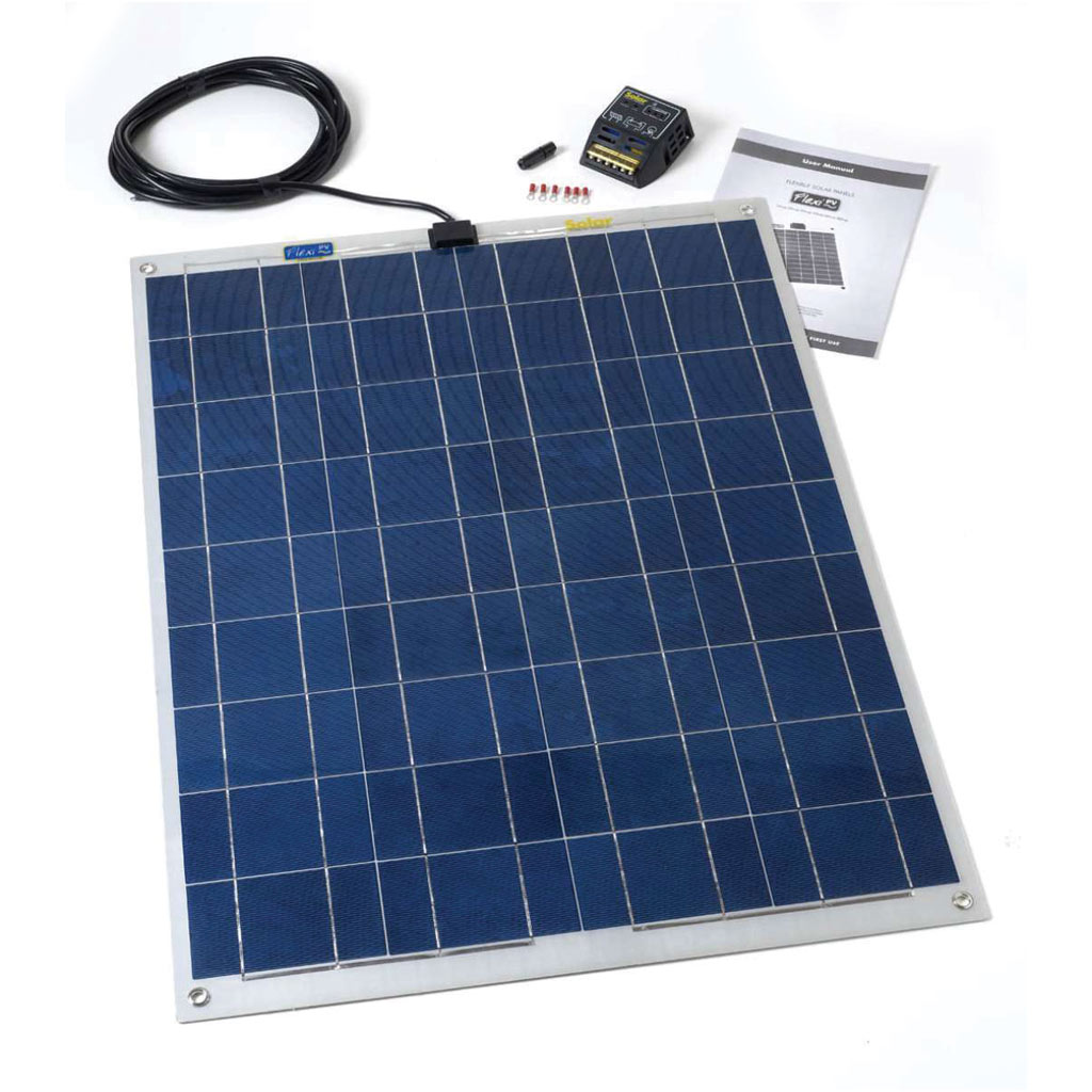 80w Flexi Pv Premium Solar Panel Kit Crystalline Cell 8ah