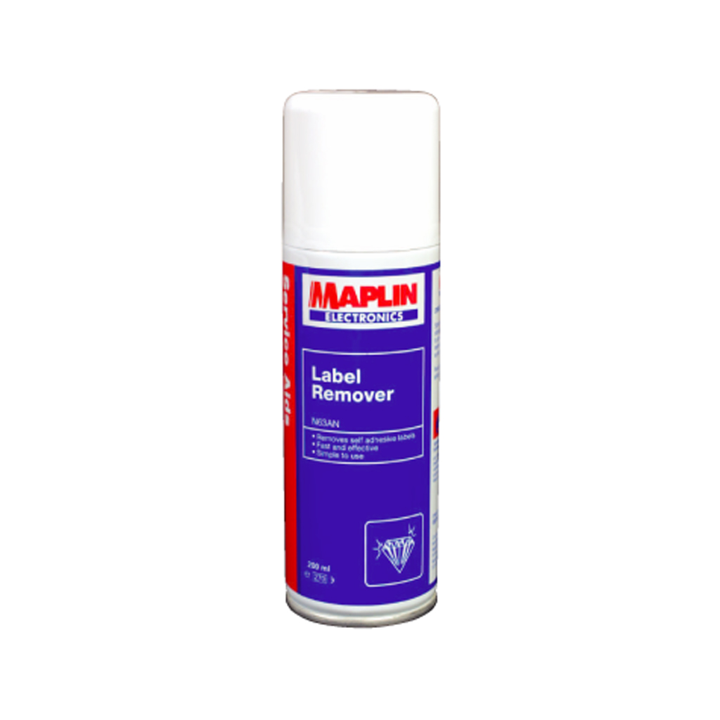 Maplin Label Remover Sticky Adhesive Non-CFC Spray 200ml