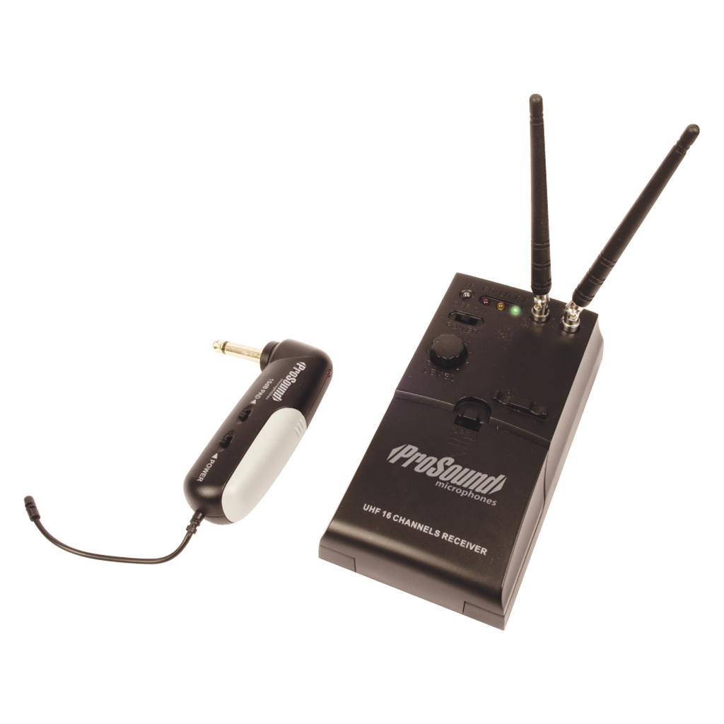 prosound wireless cordless uhf guitar system 100m range. Black Bedroom Furniture Sets. Home Design Ideas