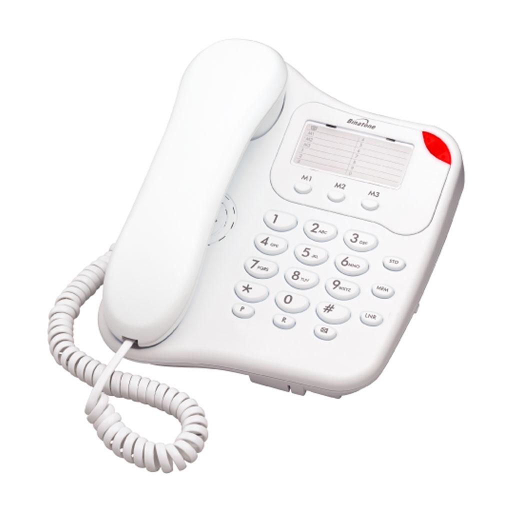 BINATONE LYRIS 110 HOME/OFFICE CORDED TELEPHONE WHITE