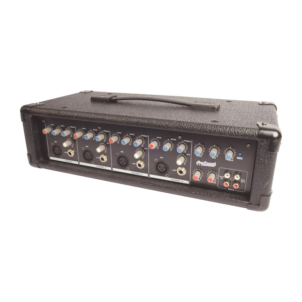 4 channel power mixer amplifier head 100w dj band amp ebay. Black Bedroom Furniture Sets. Home Design Ideas