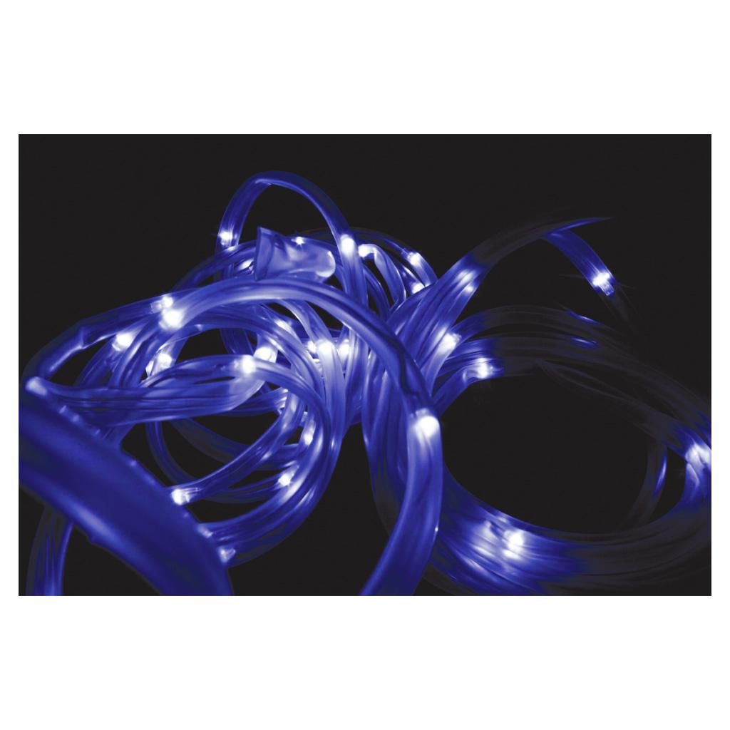 solar powered 50 white led rope light waterproof 7m ebay. Black Bedroom Furniture Sets. Home Design Ideas