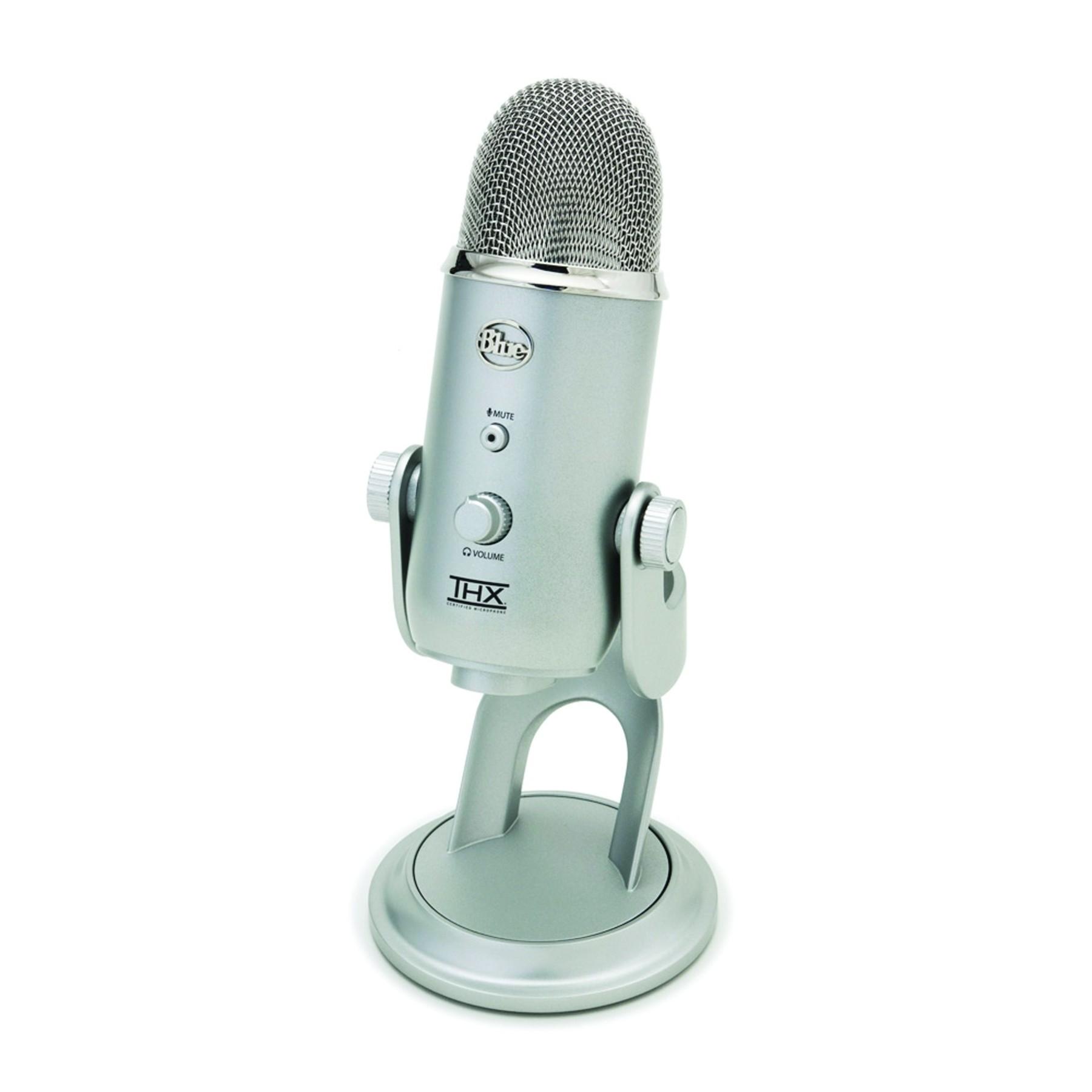 blue yeti desk top usb condenser recording microphone studio mic silver edition ebay. Black Bedroom Furniture Sets. Home Design Ideas