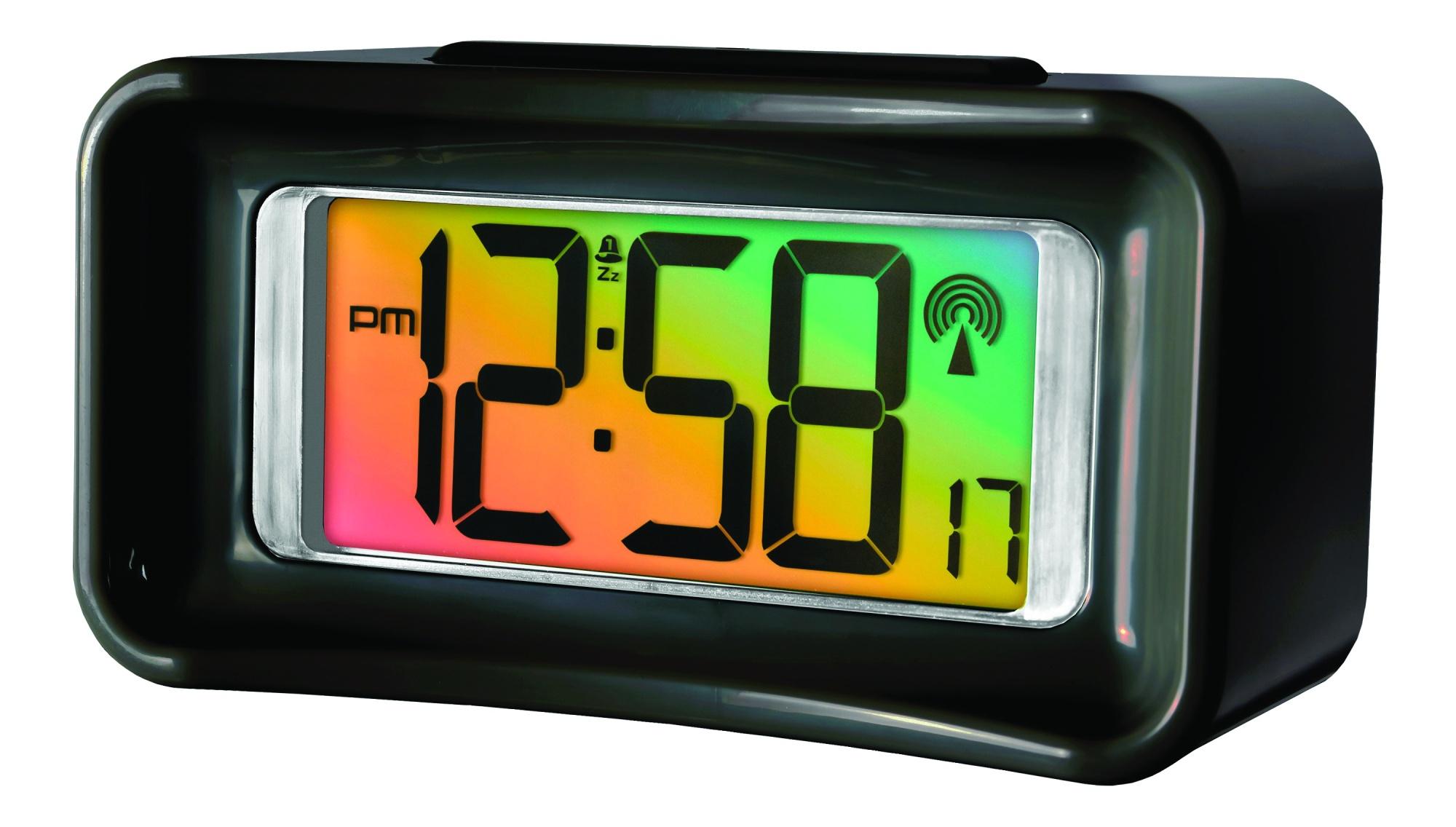acctim guardia radio controlled alarm clock black ebay. Black Bedroom Furniture Sets. Home Design Ideas