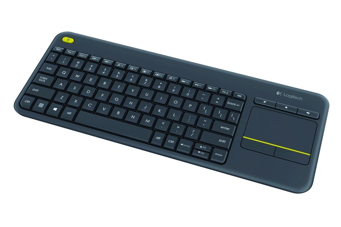 Logitech K400 Plus Wireless Wi Fi Touch QWERTY Keyboard