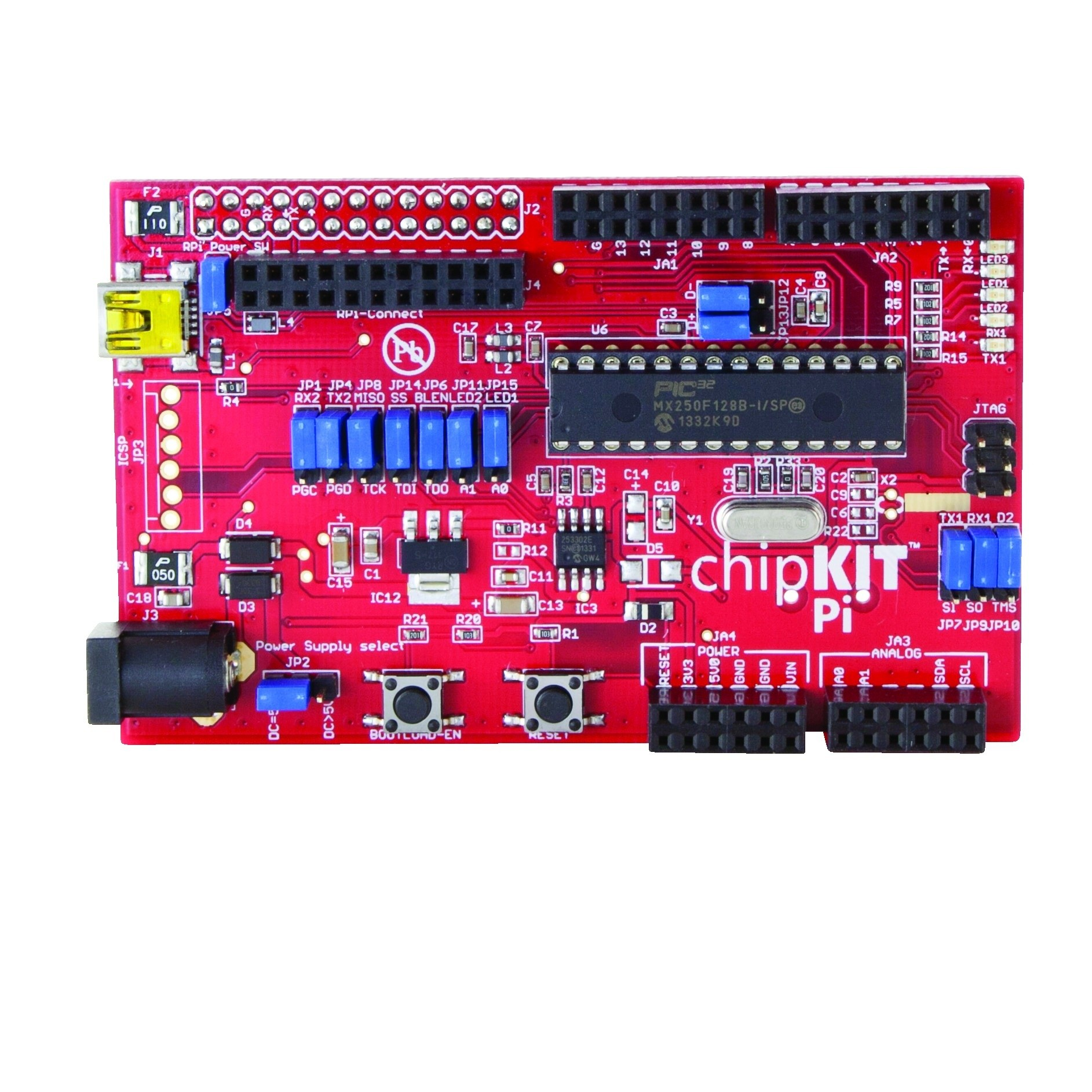 Arduino compatible chipkit platform designed for raspberry