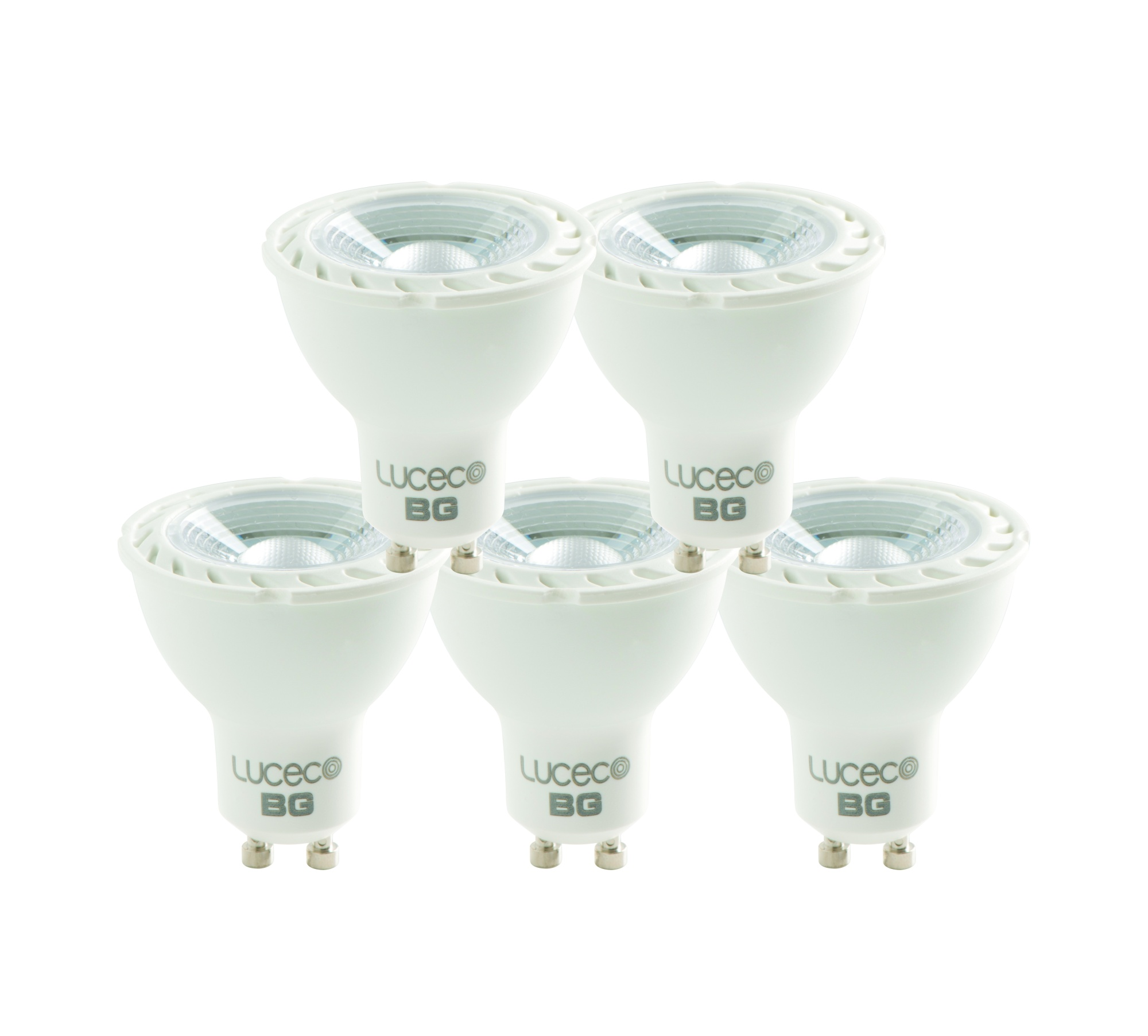 Luceco Led Gu10 Dimmable 4000k 5w 370lm Bulb Natural Light Lamp Five Pack Ebay