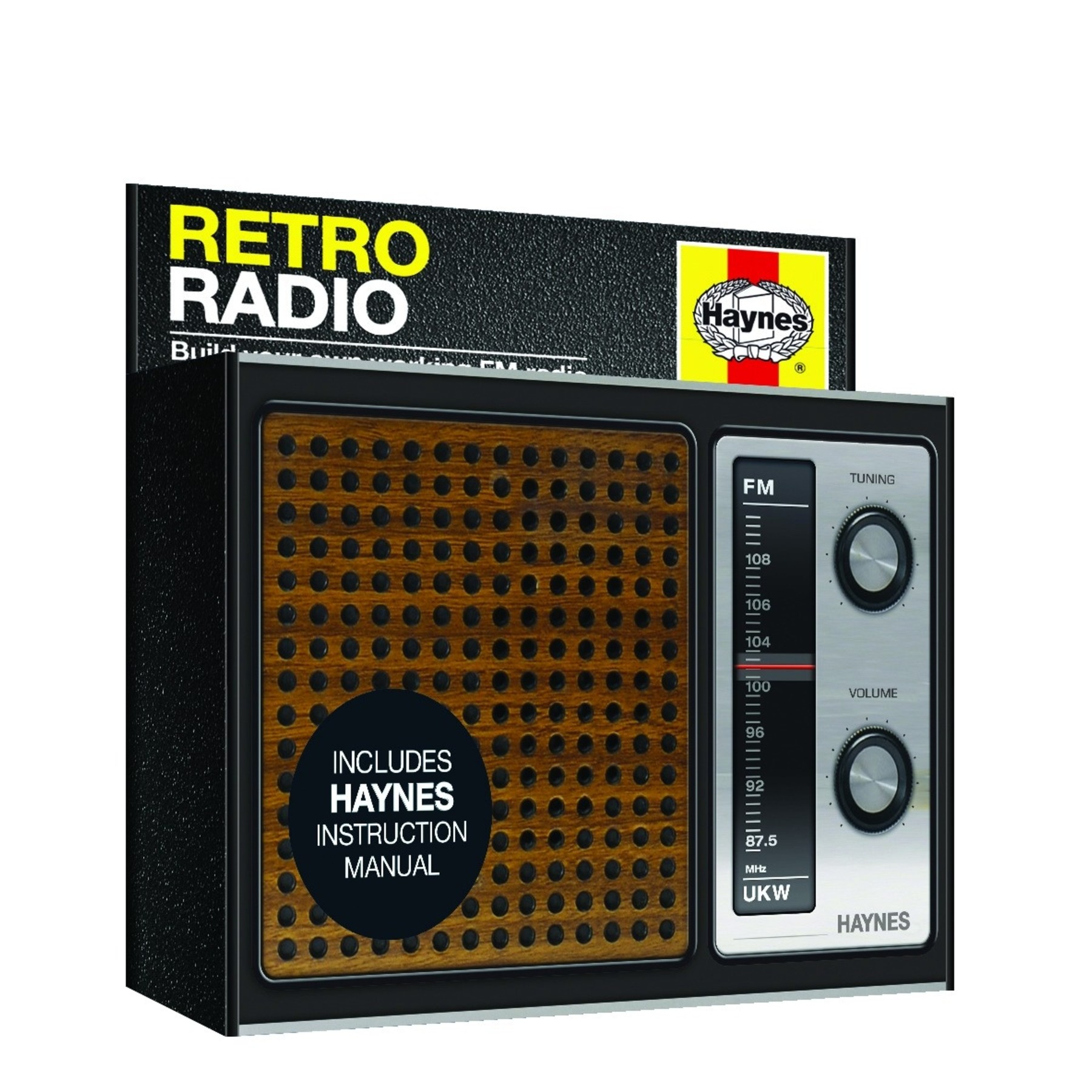 haynes fm retro look radio electronic kit instruction manual ebay. Black Bedroom Furniture Sets. Home Design Ideas