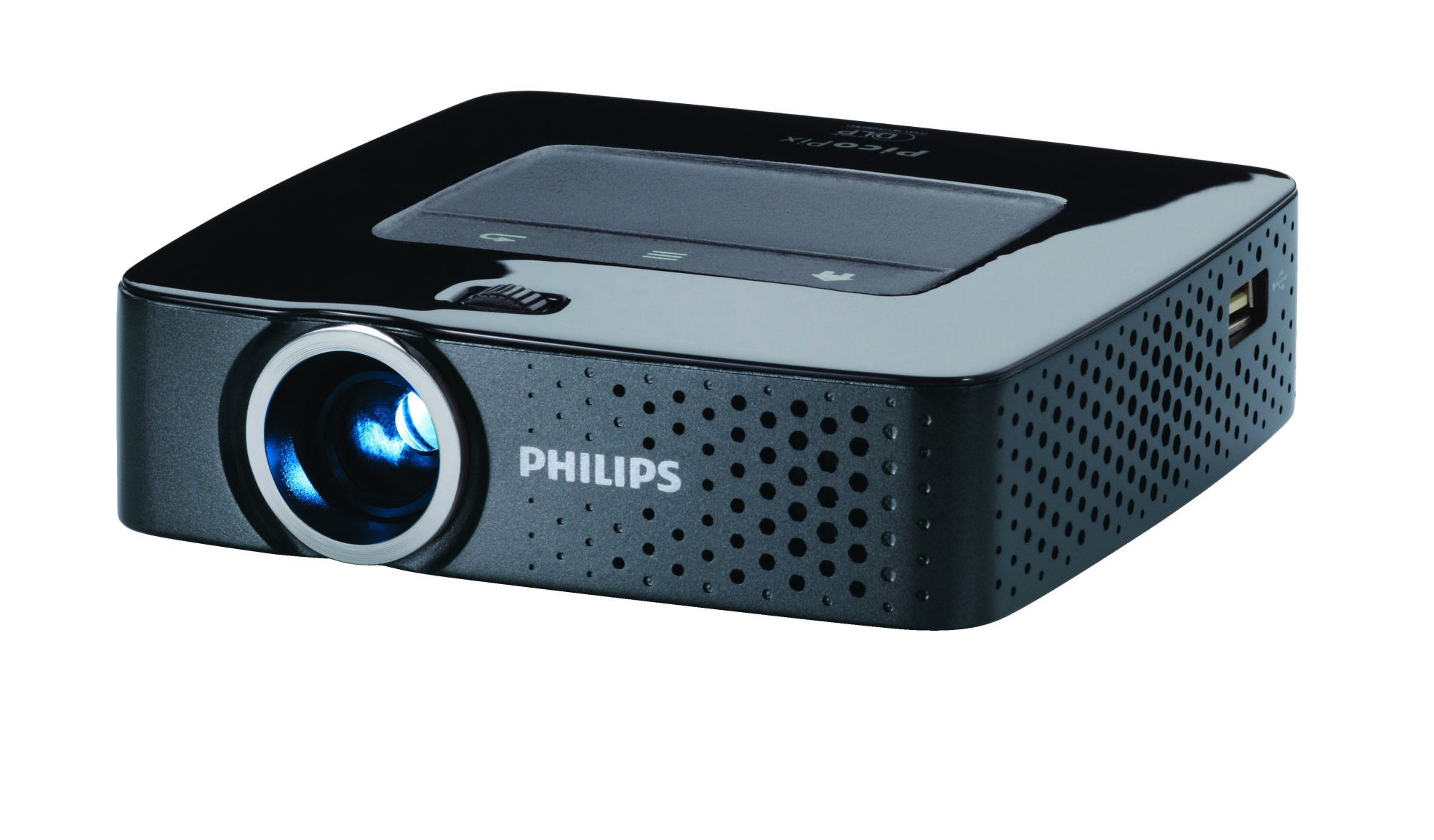 Philips picopix ppx3614 dlp led 854 x 480 portable projector for Dlp portable projector