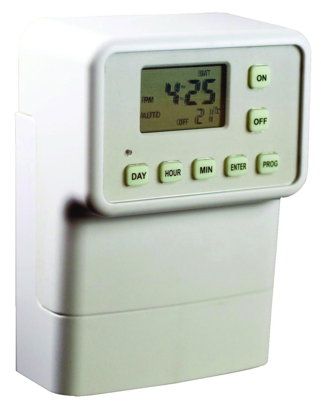light switch timer fits over standard socket no wiring. Black Bedroom Furniture Sets. Home Design Ideas