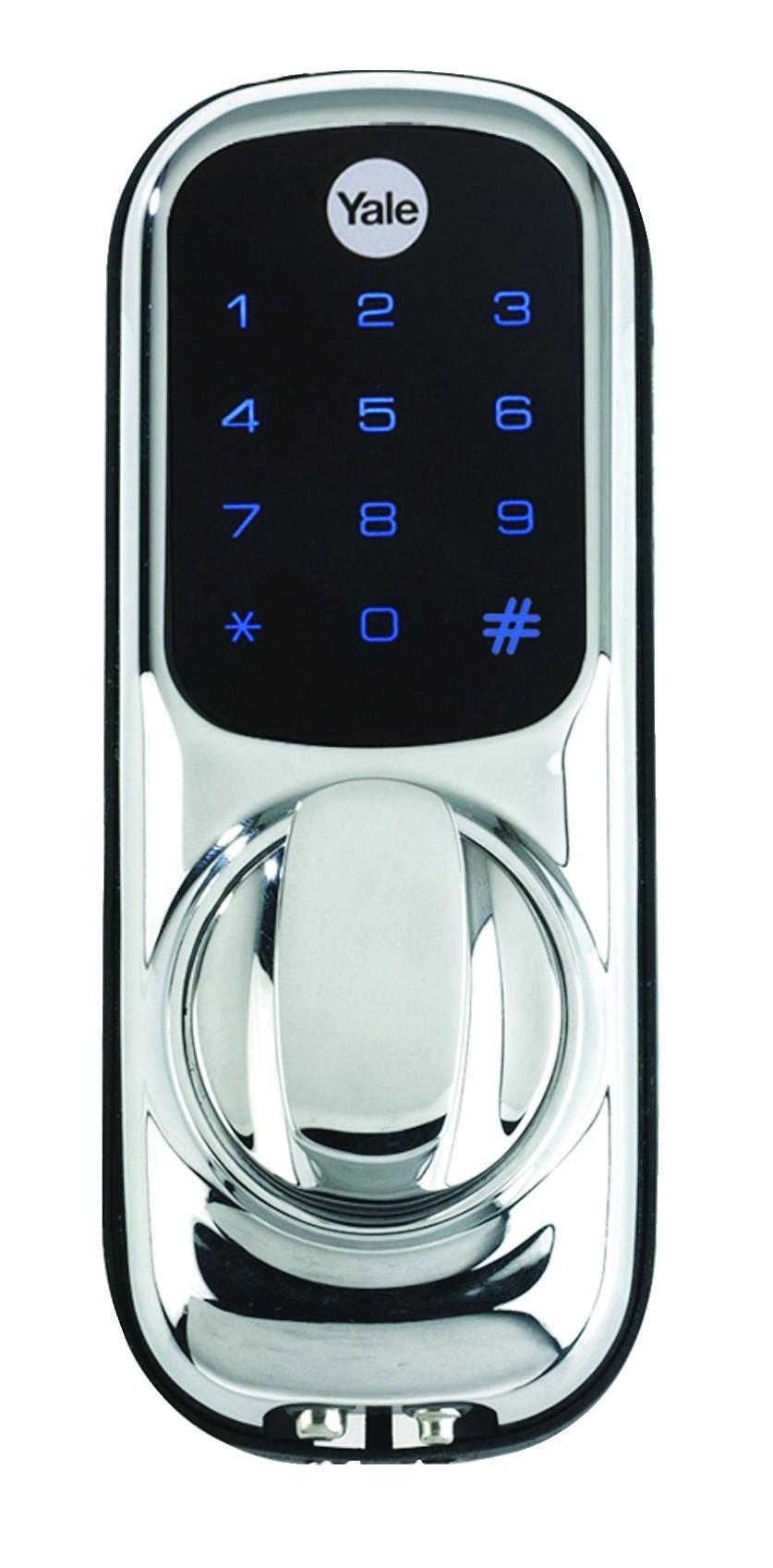 yale keyless digital door lock with nightlatch touch. Black Bedroom Furniture Sets. Home Design Ideas