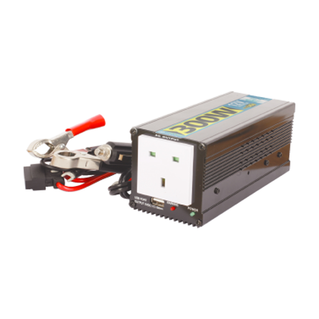 300w dc 12v to ac 230v car power inverter usb adapter ebay. Black Bedroom Furniture Sets. Home Design Ideas