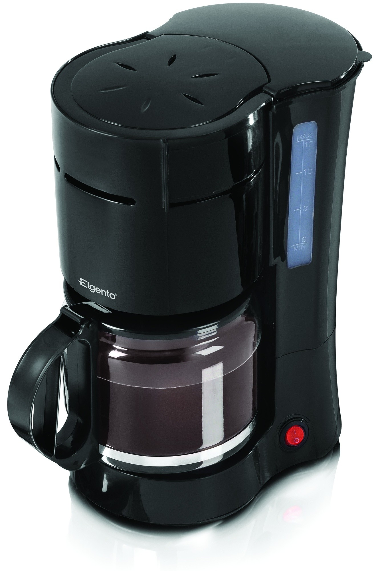 ELGENTO E13004 1000W 12 CUP FILTER COFFEE MAKER FOR OFFICE AND HOME IN BLACK NEW 5055195852328 ...