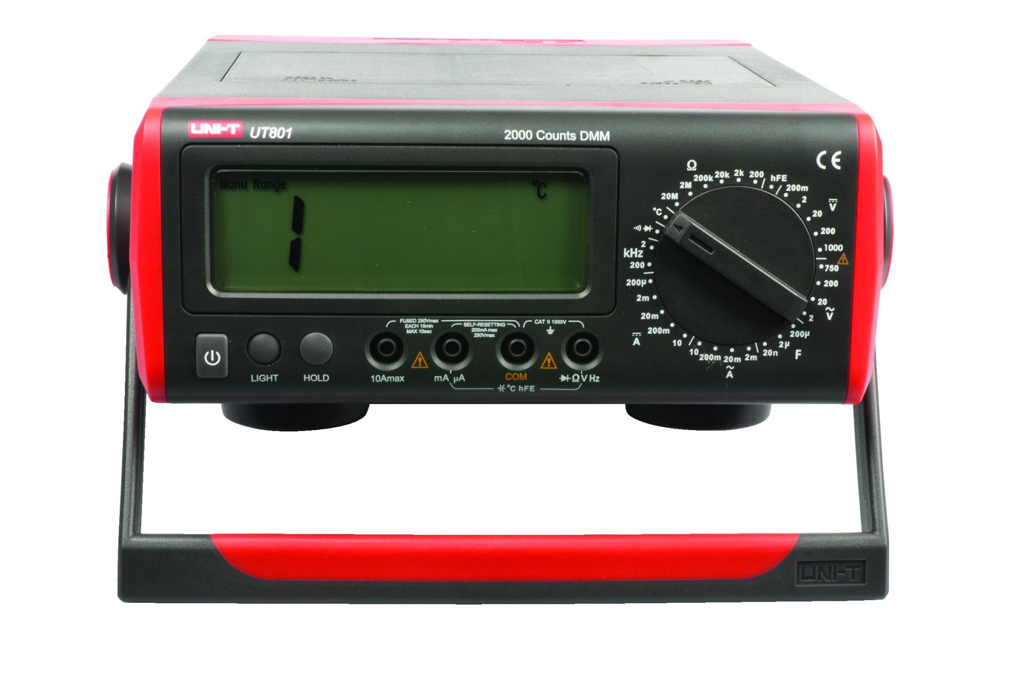 Uni Trend Ut801 Multi Test Digit Display System Bench Multimeter Dc Adaptor New
