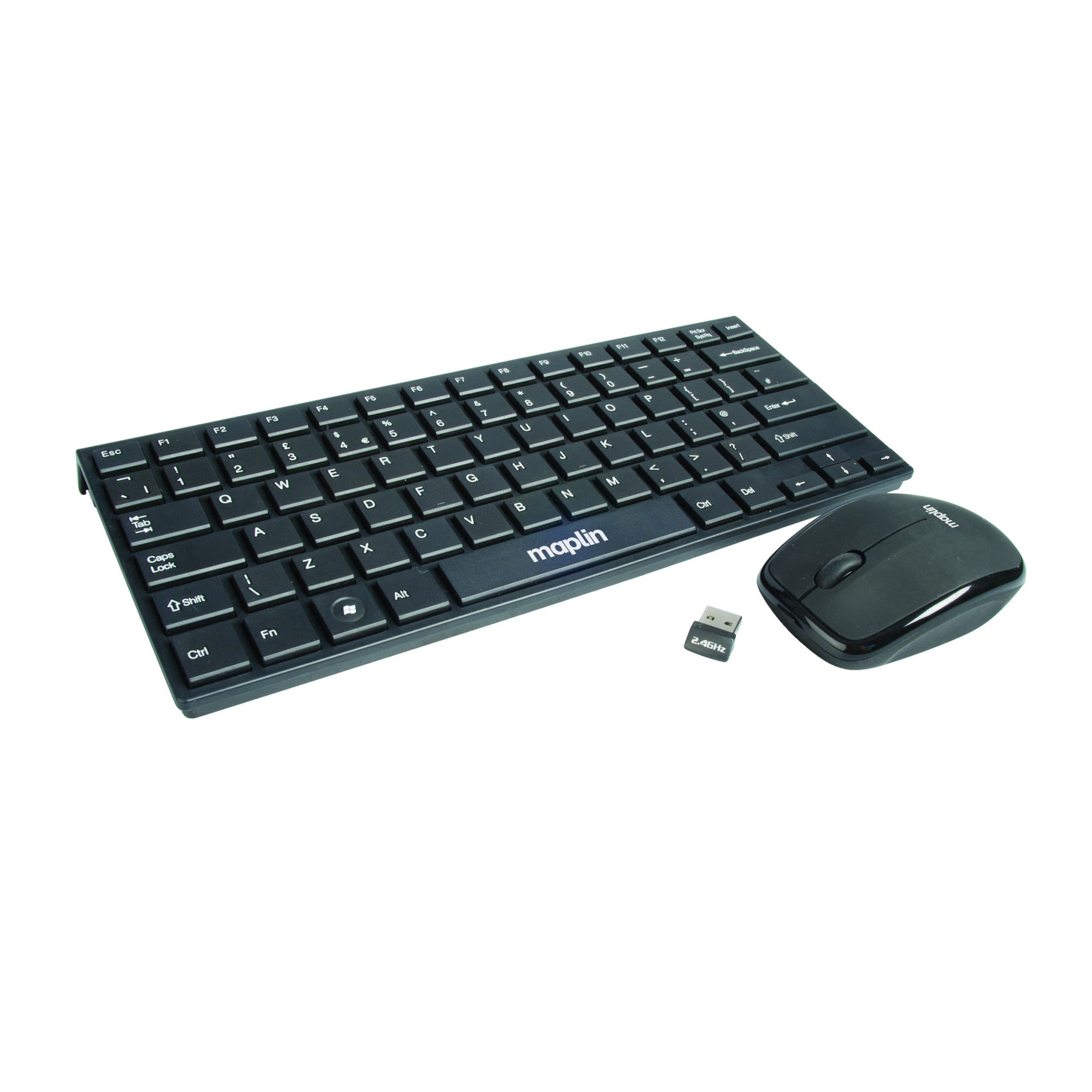 maplin super mini compact wireless keyboard and optical mouse deskset for pc new ebay. Black Bedroom Furniture Sets. Home Design Ideas