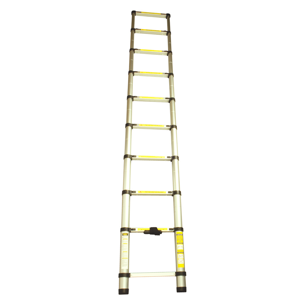 Small Telescoping Ladder : M steps lightweight telescopic ladder locking