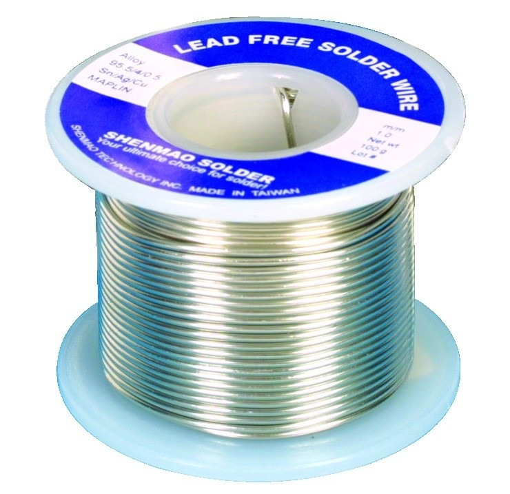 Lead free alloy silver tin copper flux solder wire roll