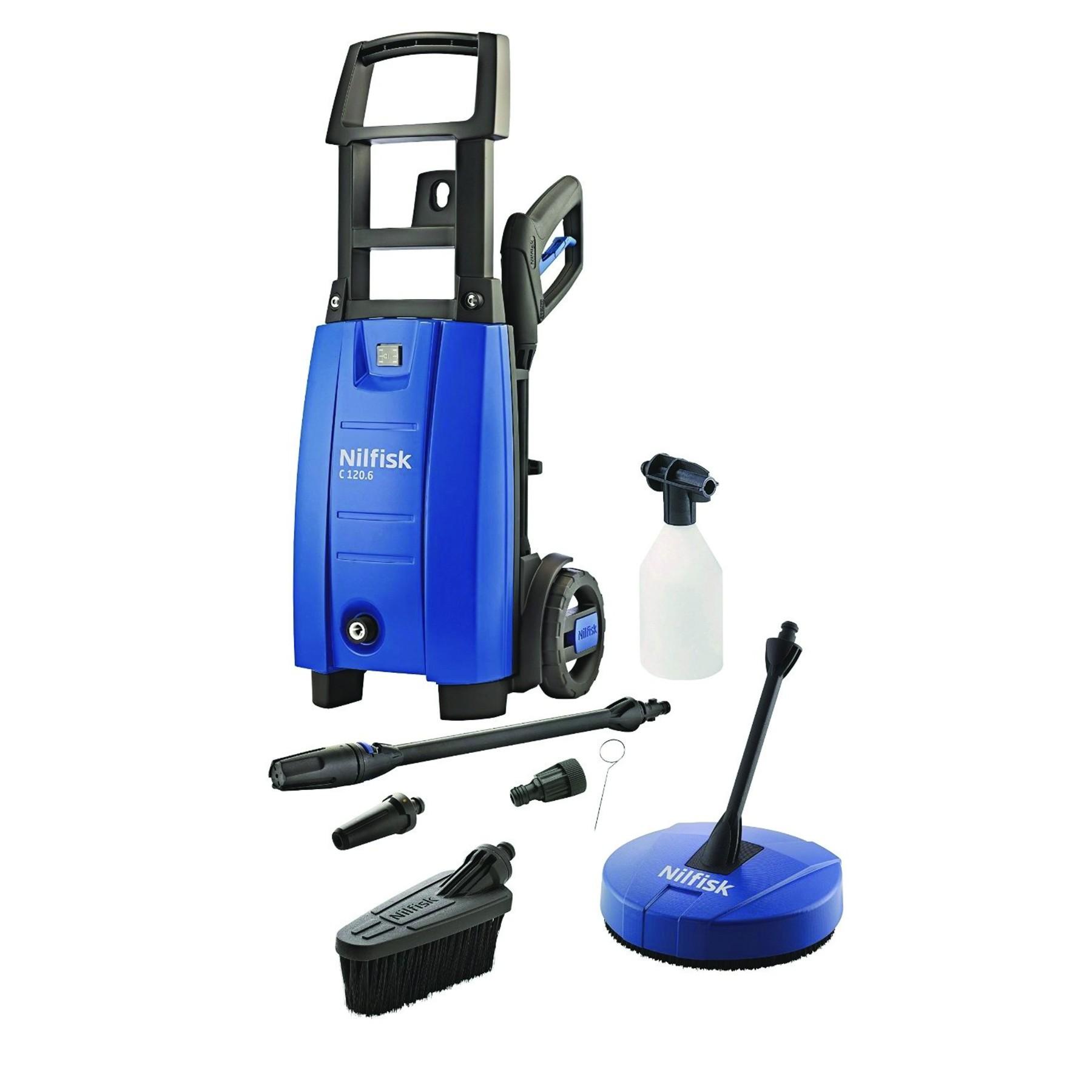 Nilfisk C120 6-6 PCA X-Tra High Performance Pressure Washer & Patio Cleaner Set | eBay