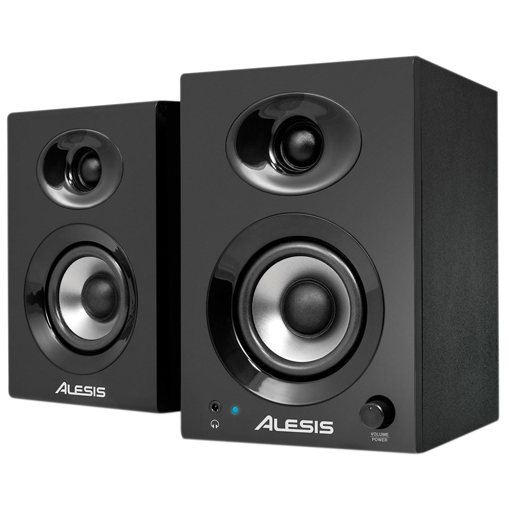 speakers monitor desktop studio powered dj alesis elevate audio 60w