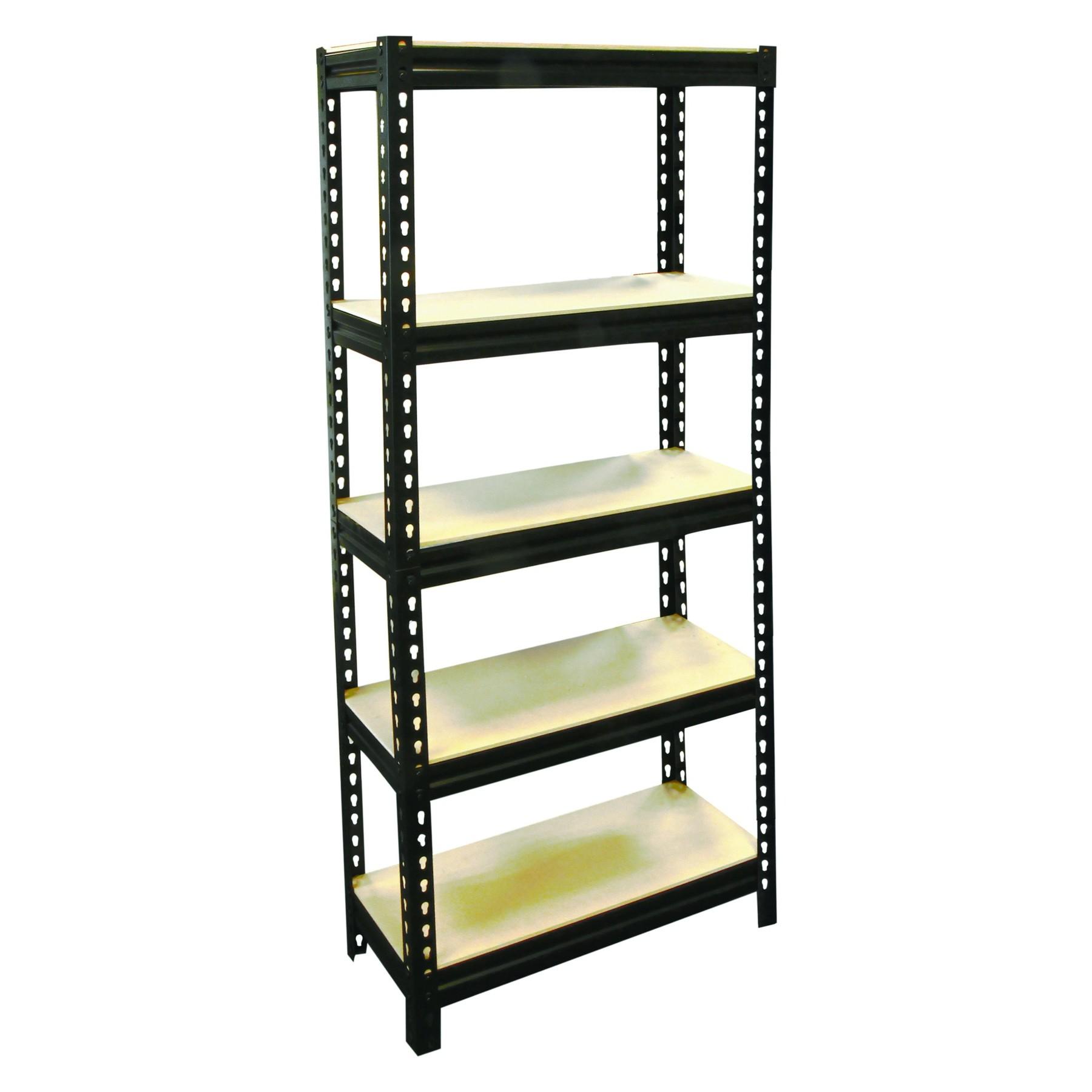 5 layer storage shelf unit powder coated boltless steel. Black Bedroom Furniture Sets. Home Design Ideas