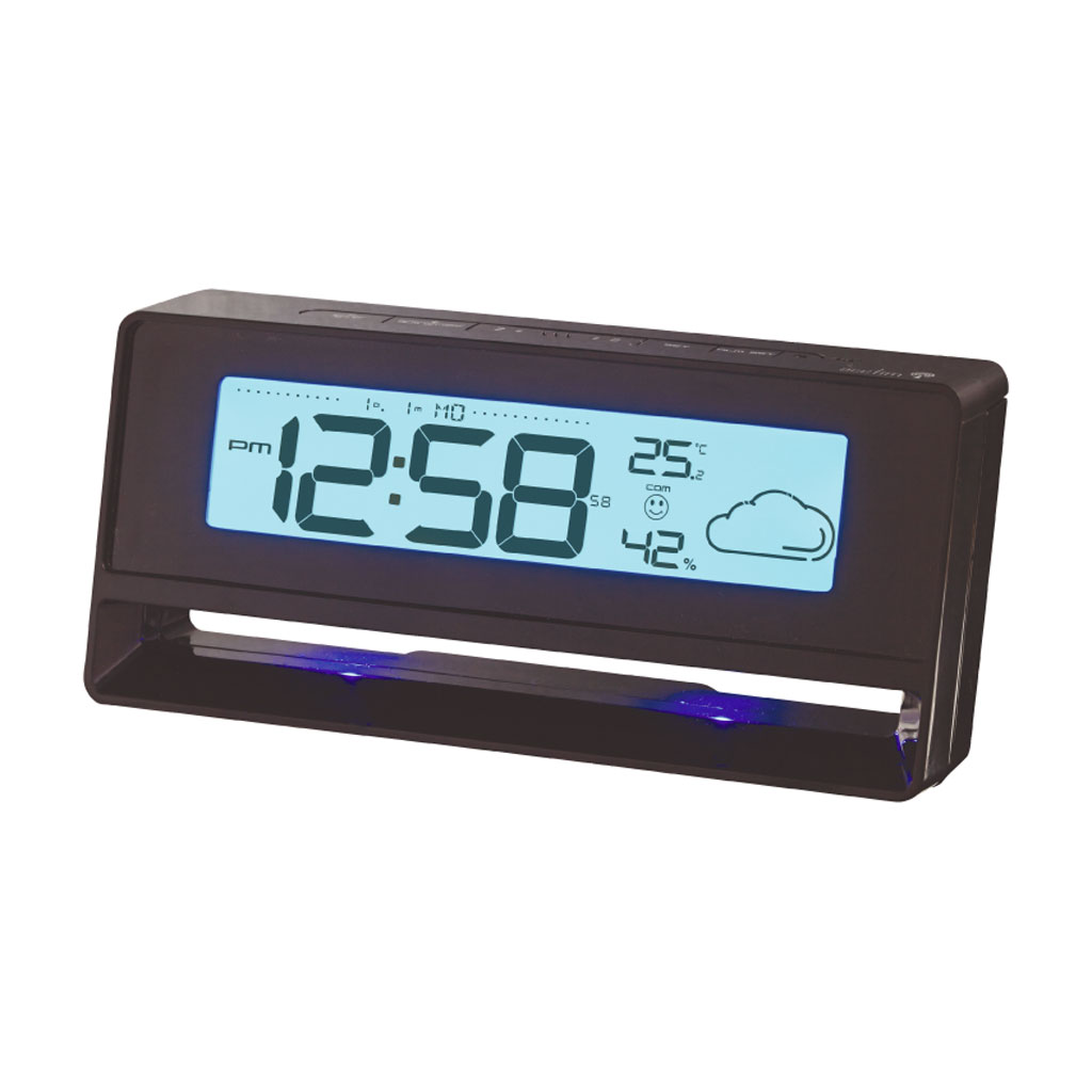 acctim newman radio controlled alarm clock digital lcd wheather temperature ebay. Black Bedroom Furniture Sets. Home Design Ideas