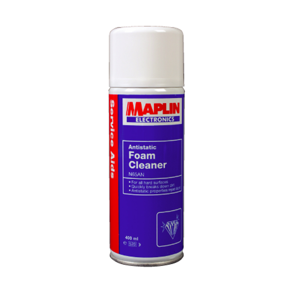 multi purpose foam cleaner dirt remover antistatic upholstery spray can 400ml ebay. Black Bedroom Furniture Sets. Home Design Ideas