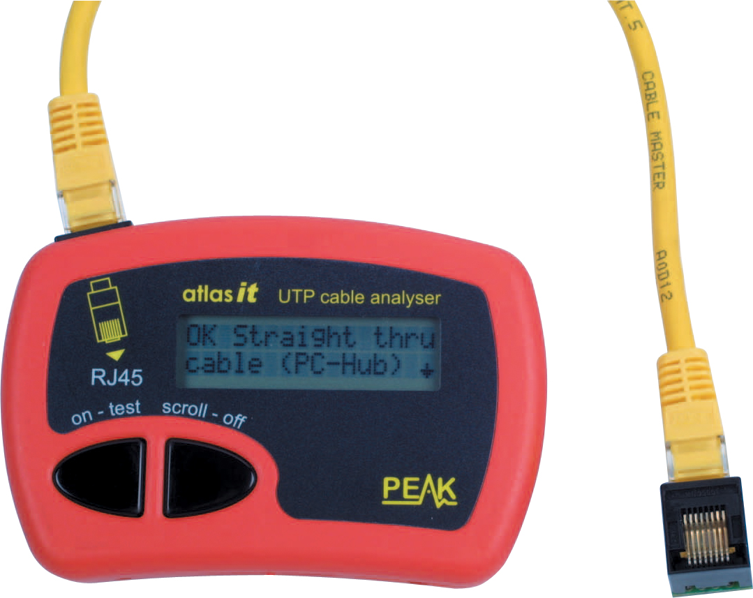 Network Cable Tester : Peak atlas it network lan cat e cable tester analyser