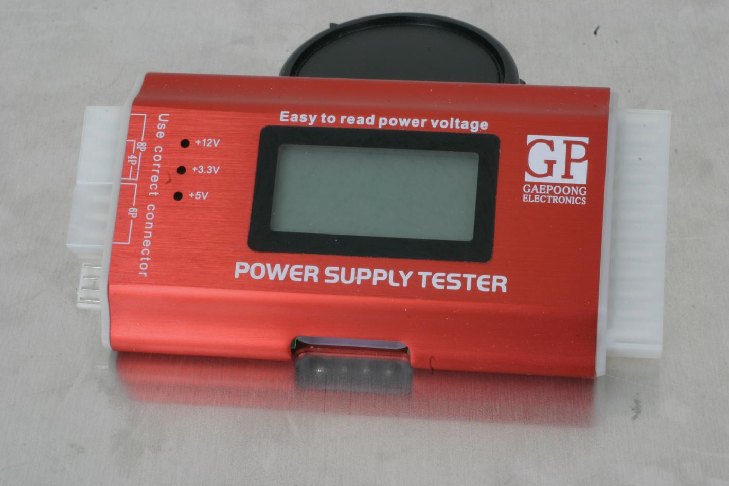 Power Supply Tester : Atx pc pin sata hdd lcd psu power supply tester ebay