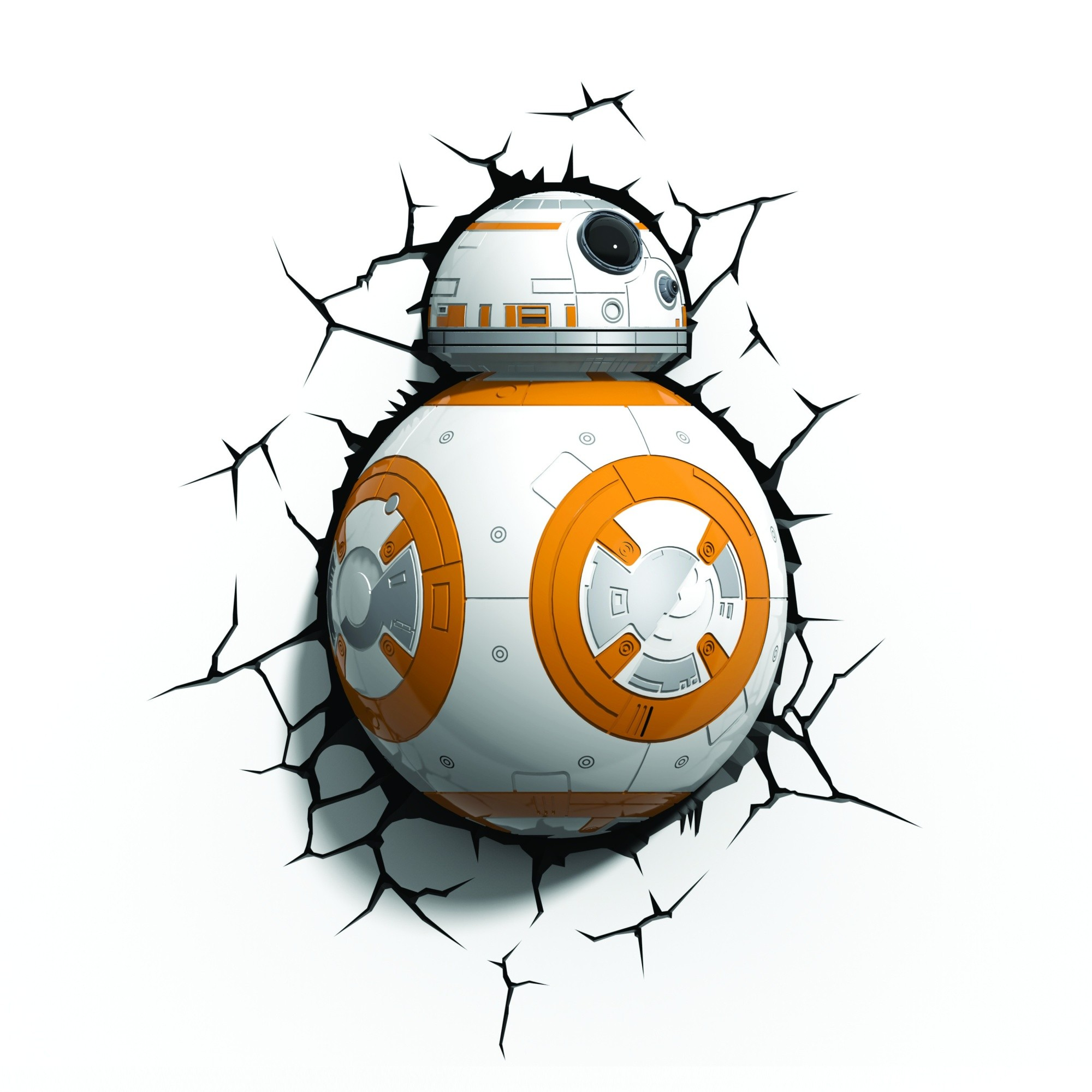 Star Wars Force Awakence Bb 8 3d Deco Led Wall Night Light