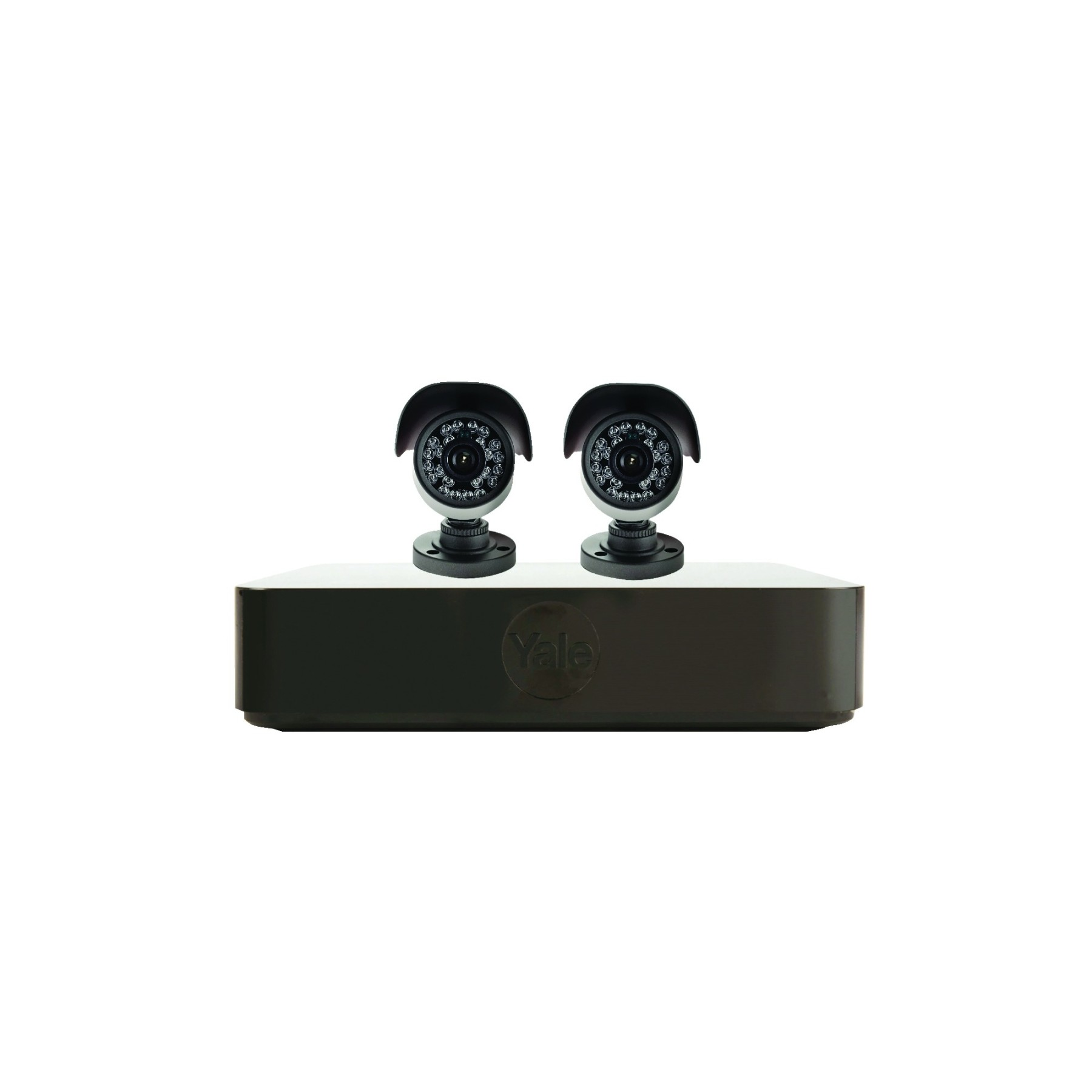 Yale 720p H4b Hd Dvr 4 Channels Cctv Kit With 2 Cameras