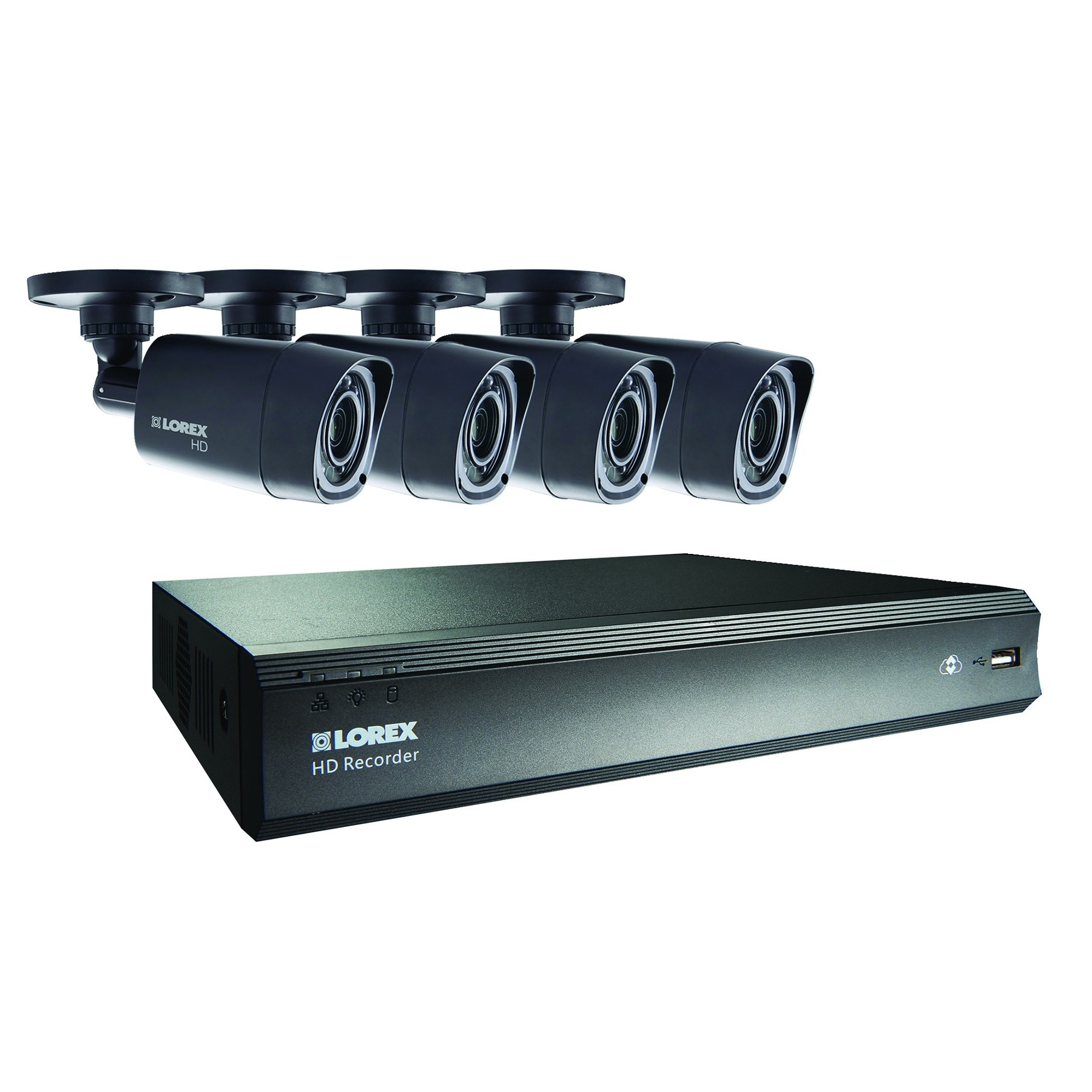 lorex 8 channel 1tb dvr 720p home office security cctv kit with 4 cameras ebay. Black Bedroom Furniture Sets. Home Design Ideas
