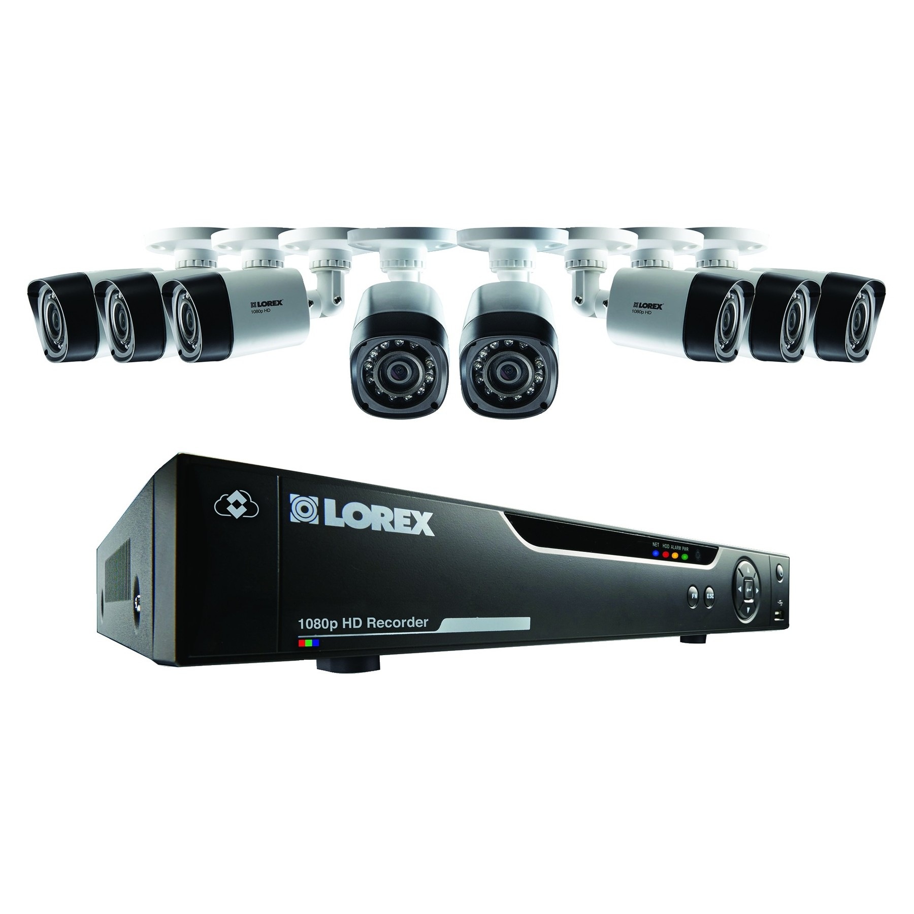 Lorex by FLIR LHVTC4 8-Channel p HD MPX DVR with 4 p Weatherproof IR Cameras electronic consumer.