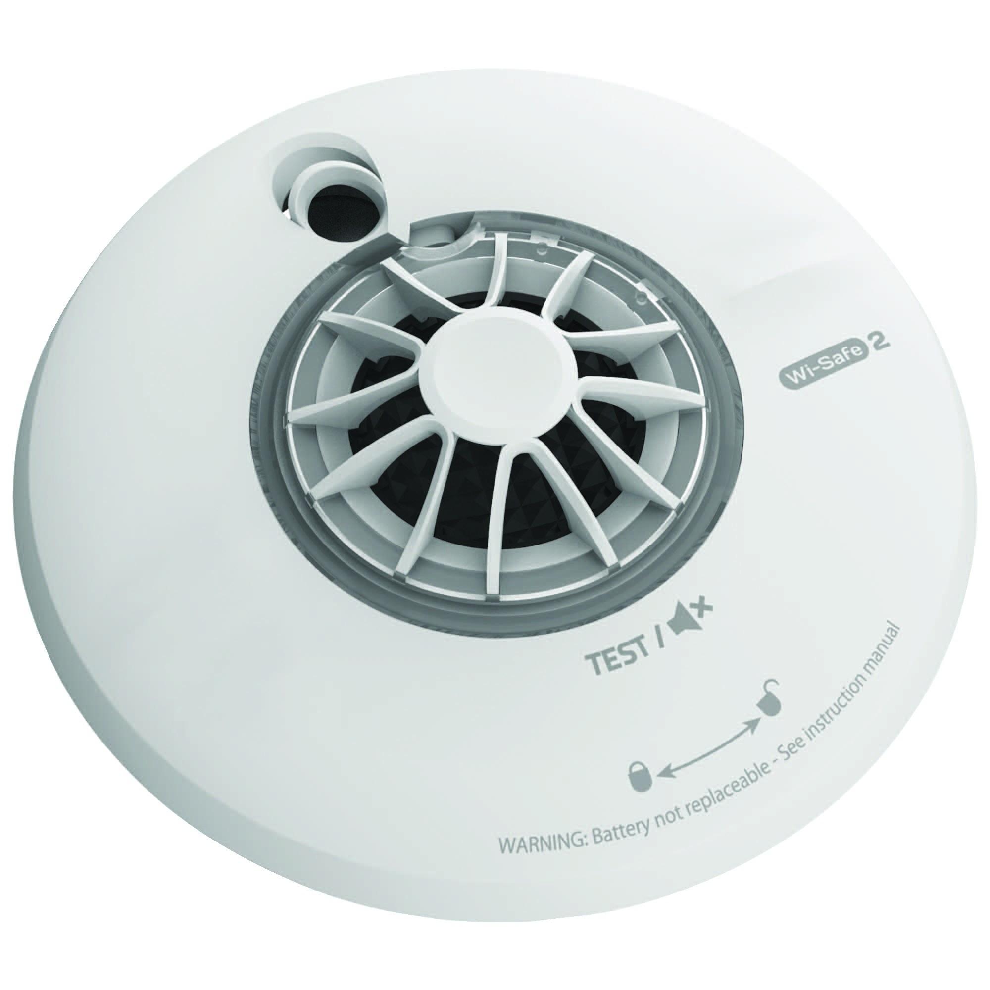 fireangel wireless interlink heat alarm detector siren 85db loud lithium batt. Black Bedroom Furniture Sets. Home Design Ideas