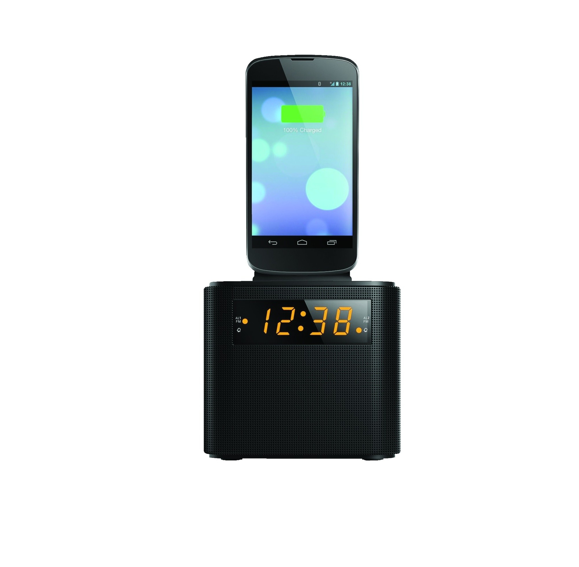 philips aj3200 05 fm clock radio with phone dock digital screen alarm speaker ebay. Black Bedroom Furniture Sets. Home Design Ideas