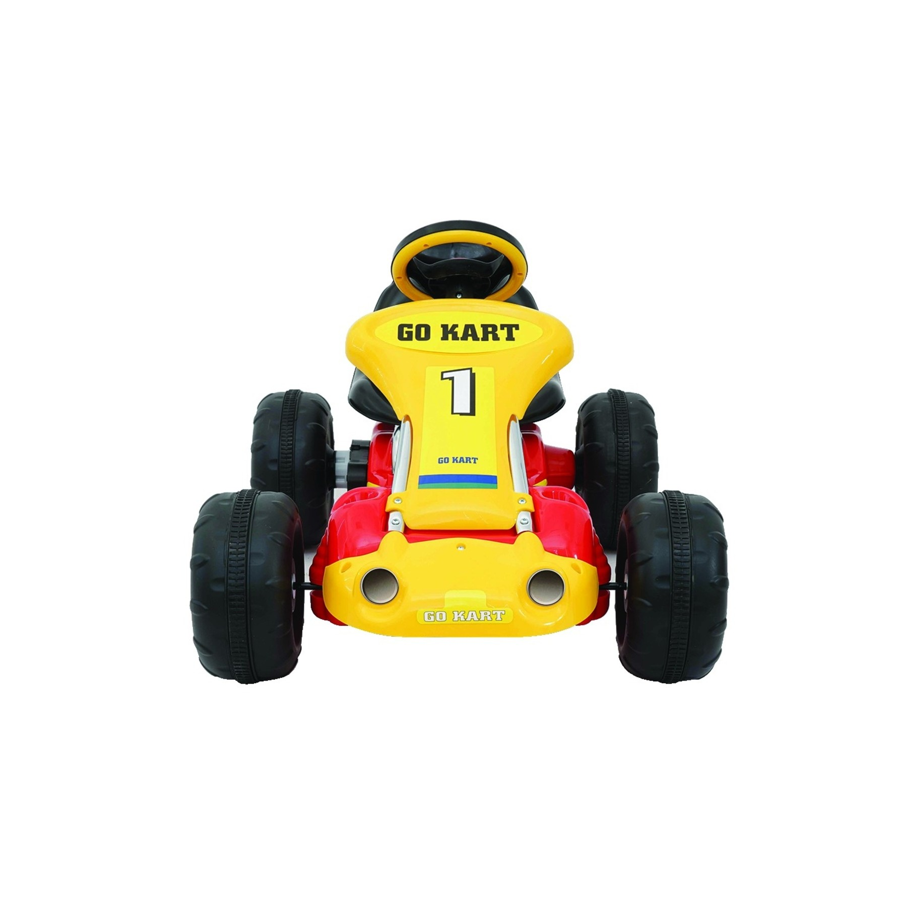 ride on kids go kart racing car 12v battery for children aged 3 7 red and yellow ebay. Black Bedroom Furniture Sets. Home Design Ideas