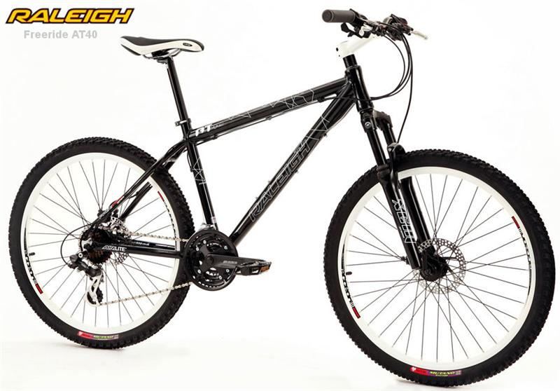 raleigh freeride at40 gents disc black xc mountain bike ebay. Black Bedroom Furniture Sets. Home Design Ideas